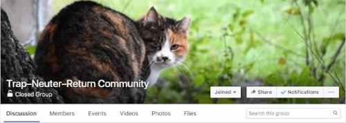 Trap-Neuter-Return Community on Facebook