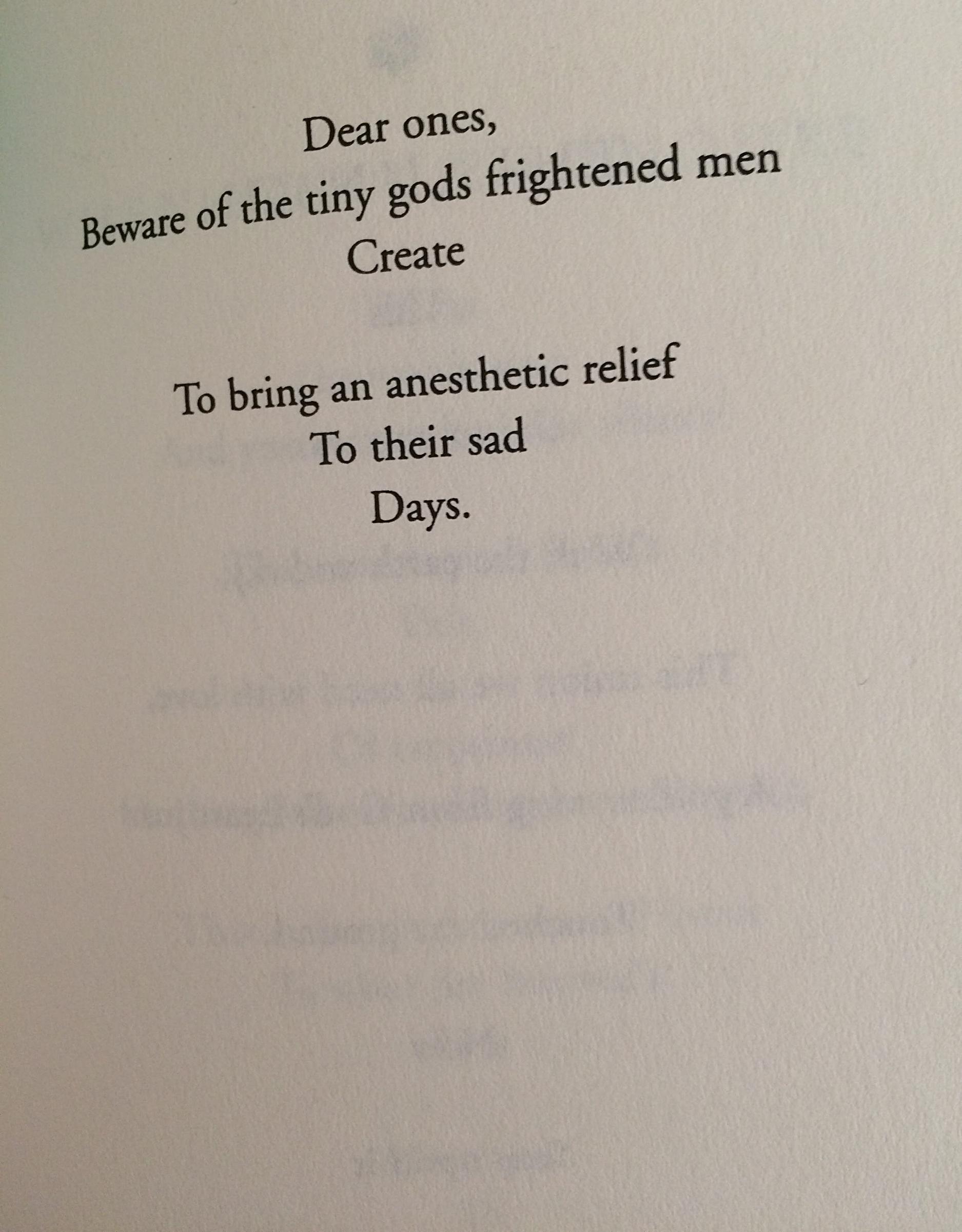 excerpt, from the Sufi poet Hafiz