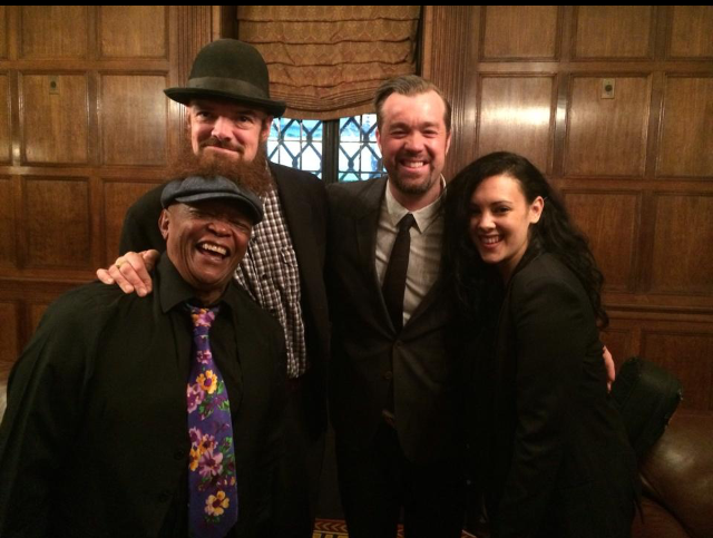 With three of my favorite musicians: Hugh Masekela,  Eric Krasno, and Alecia Chakour