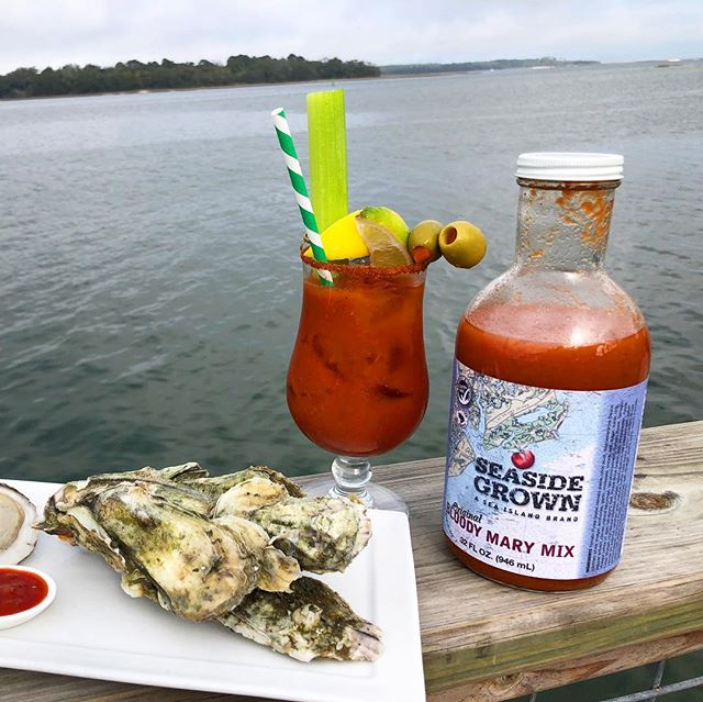 It's a @seasidegrownfresh kind of feeling! Those who appreciate the pure taste of produce fresh-off-the-farm will enjoy the fresh and hardy blend of their family-grown tomatoes infused with a hand-picked assortment of traditional Lowcountry spices. Our Official Bloody Mary Mix will not only take your cocktail to the next level but you will LOVE their cocktail sauce!