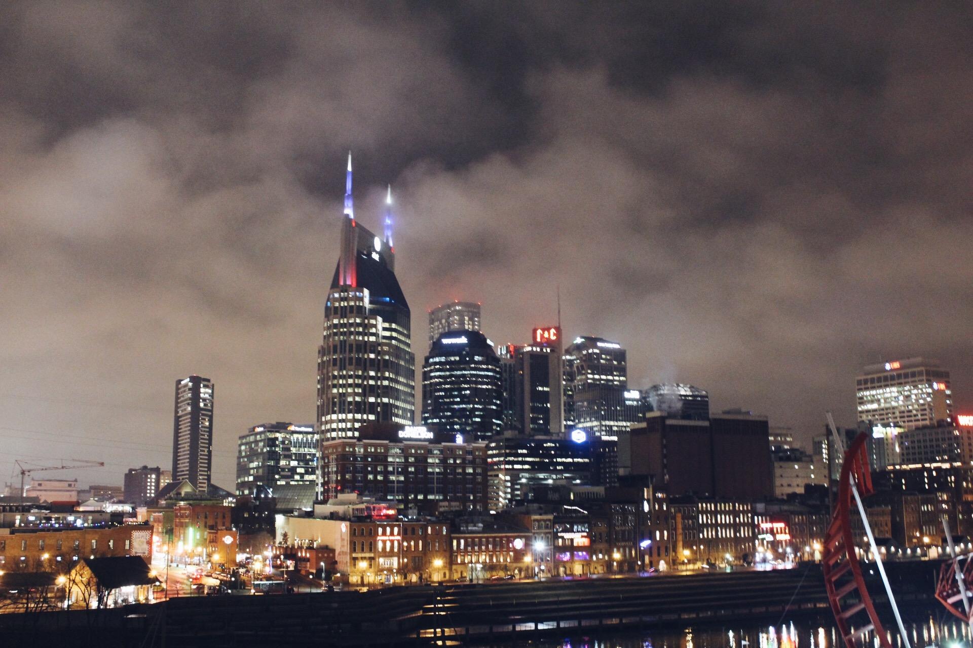 Downtown Nashville - This photo was taken from Pedestrian Bridge!