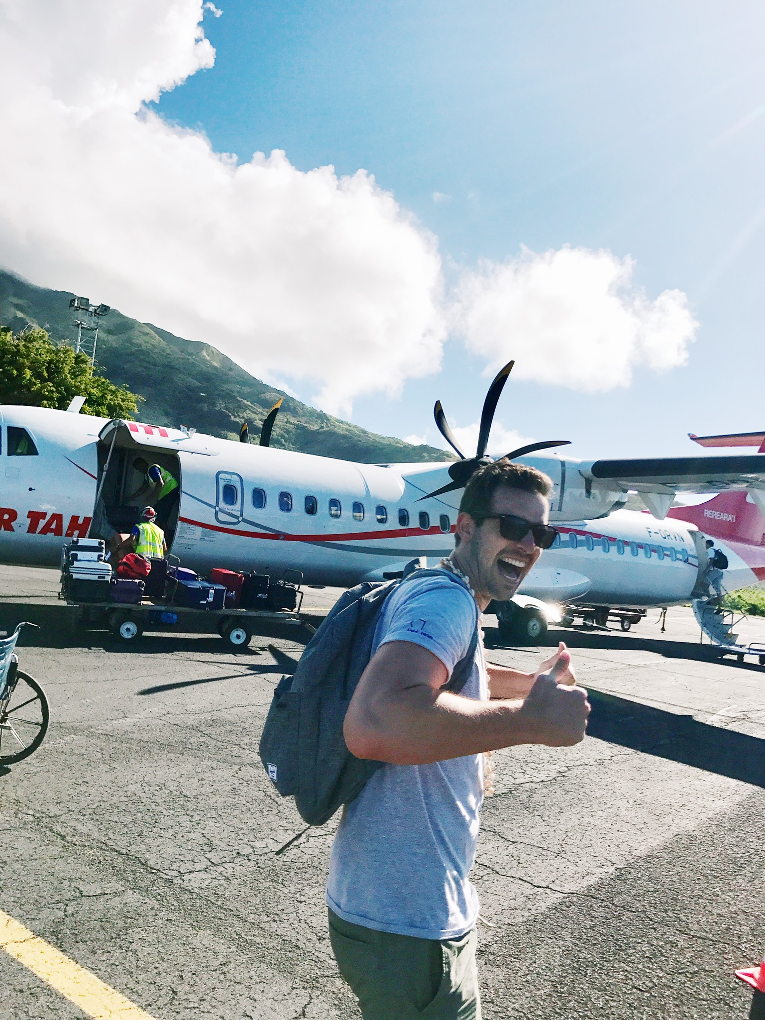 Bora Bora bound! - The only time my husband was excited to board a small plane…