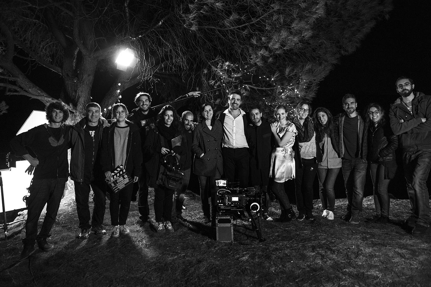Algunos miembros del equipo durante el último día de rodaje  (Fotografía:   Pedro Luis Ruiz Rivas  )