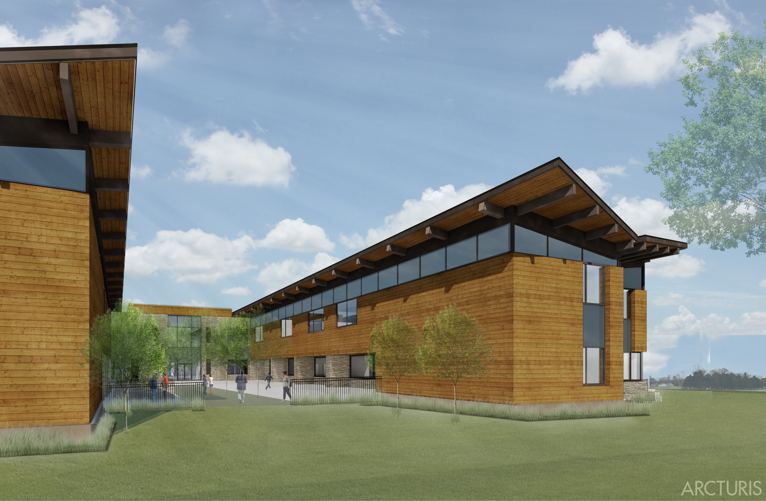 "The Arcturis team worked closely with Harris House to incorporate design practices for healing that support their treatment philosophy of ""integrated healing of mind, body, and spirit."" This new state of the art facility will allow Harris House to extend their reach in the region and expand their efforts towards healing."