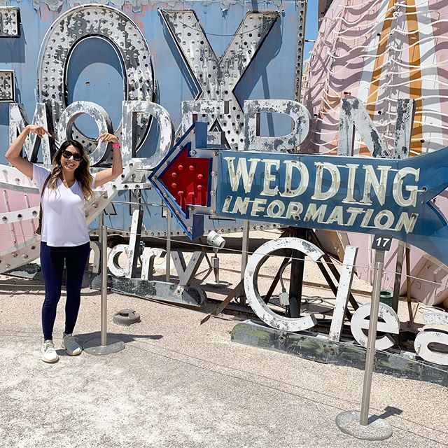 I thought that this sign was fitting! 😂 Wedding information here!! 🙋🏻♀️#flashbackfriday to our visit to @theneonmuseumlasvegas So much history here!!