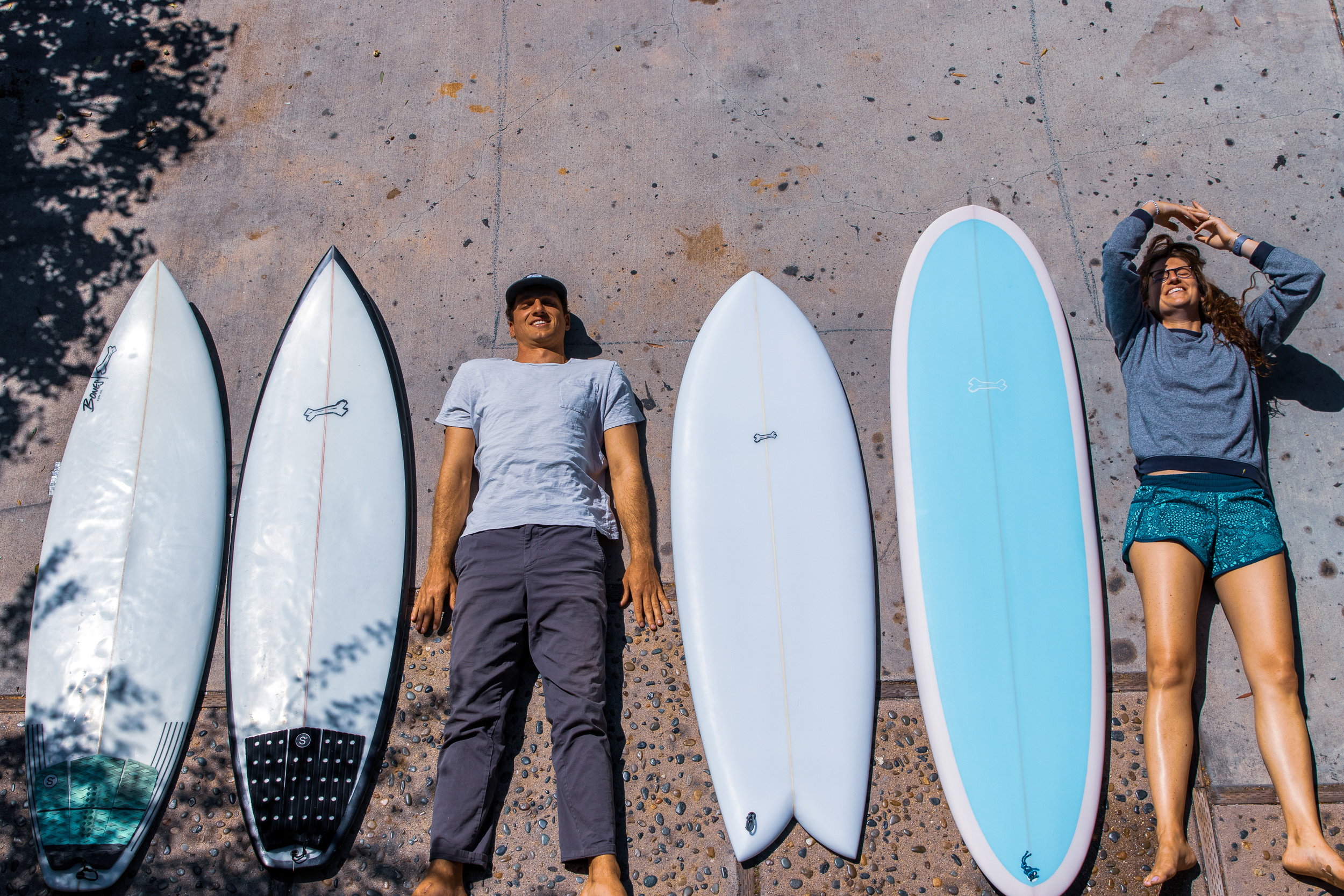 Mark and Celeste have been part of the bones crew since we started back in our Massachusetts garage. When they began planning a month long trip to New Zealand, we got to work on their quiver. They brought a pair of Super Soaker II's, a Retro Fish Taco, and a mid-length Fat & Single. Take a scroll through an epic trip.