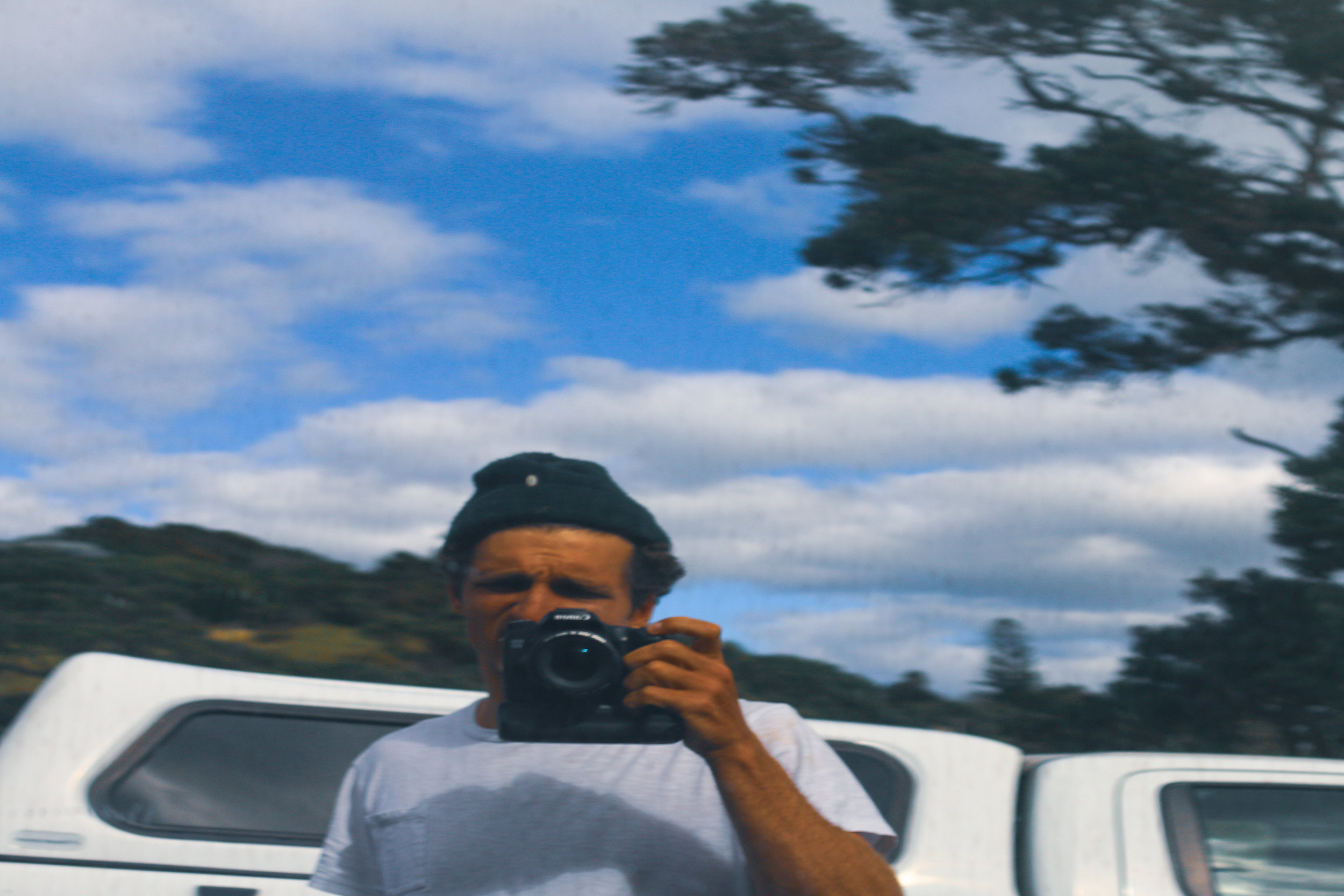 Mark behind the lens.