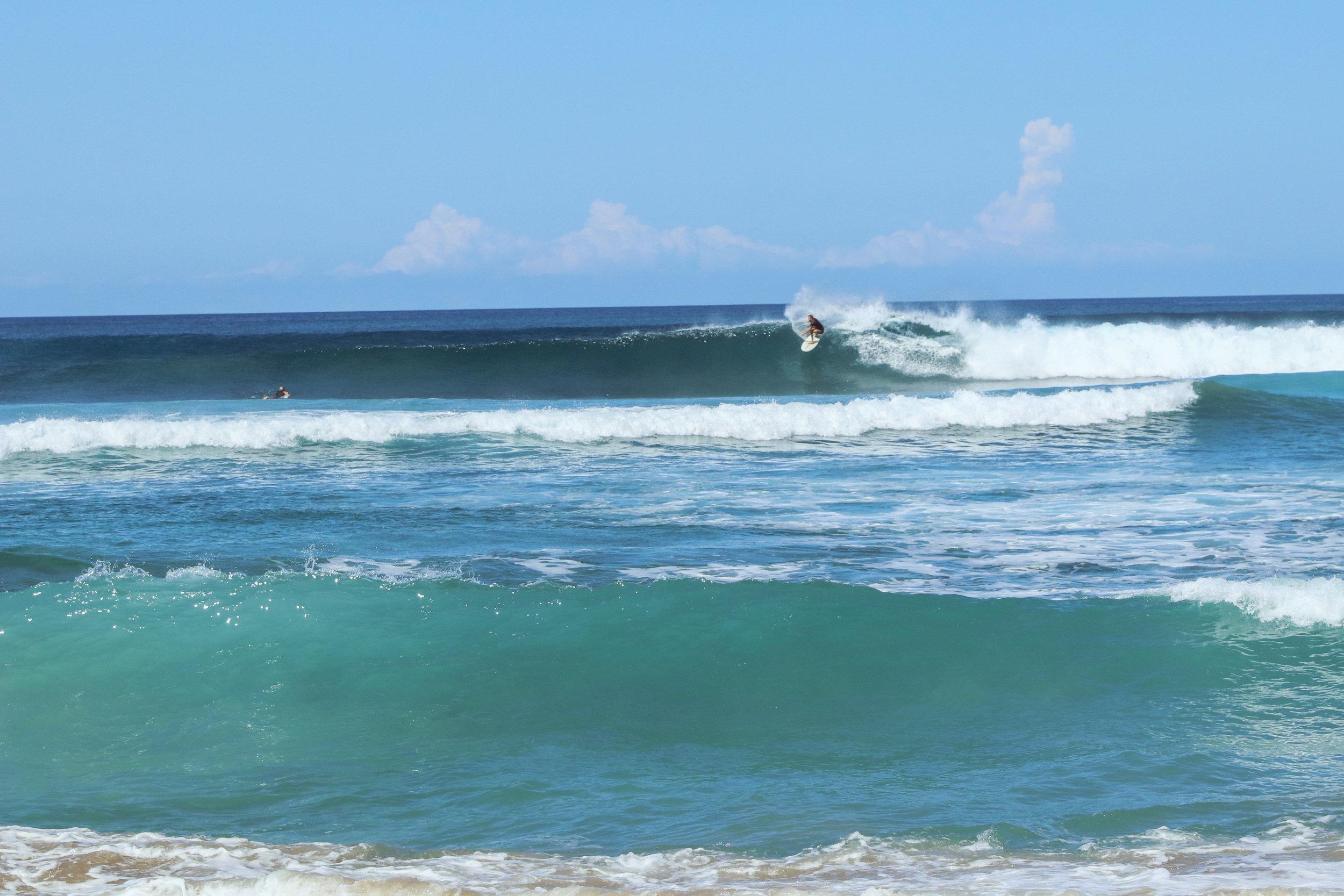 Playa Negra is always a welcome break from maxing beach break.