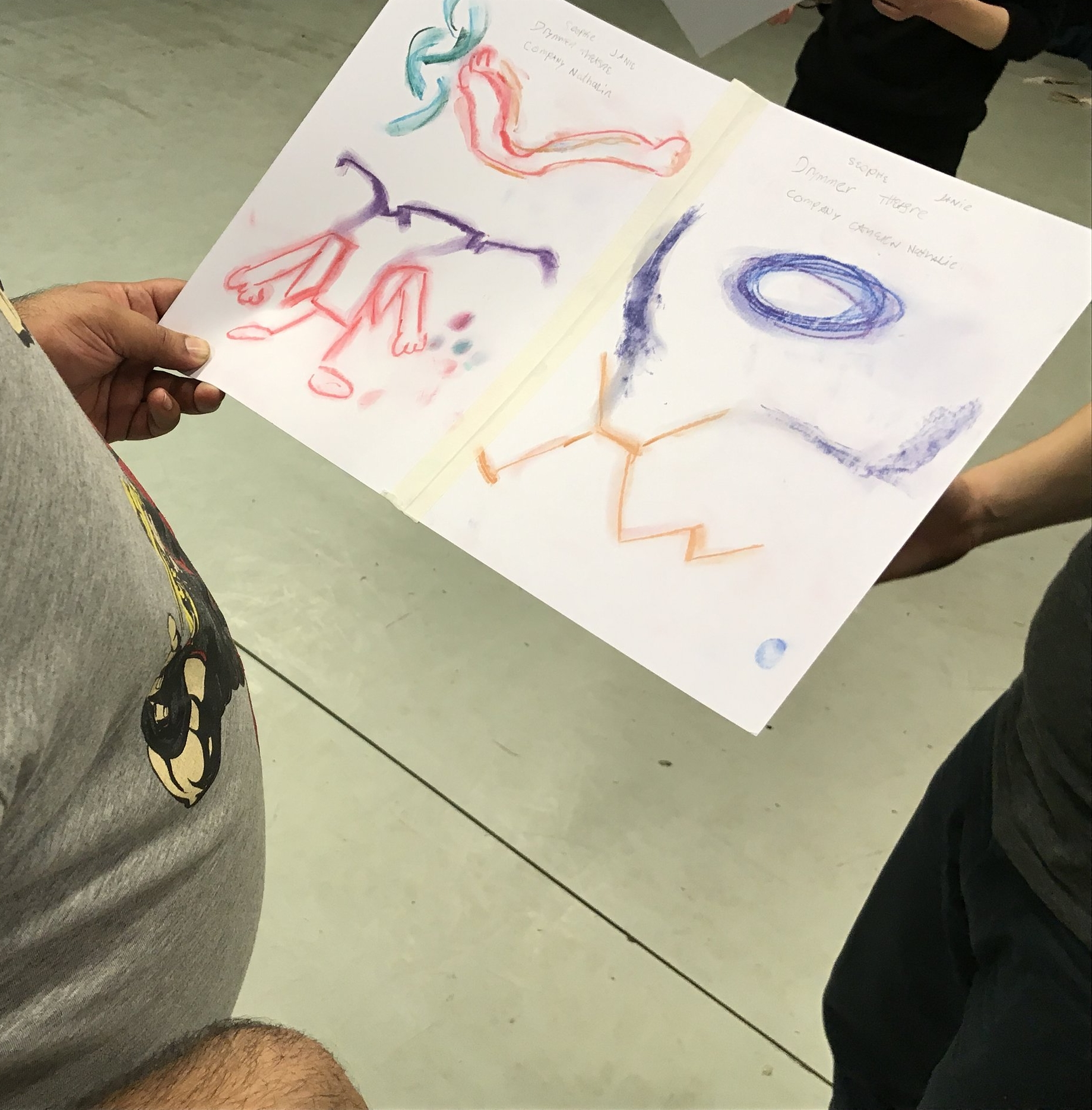 We translate - We translate the drawings back into movement.Pizza making, twist and jives and sun salutations.