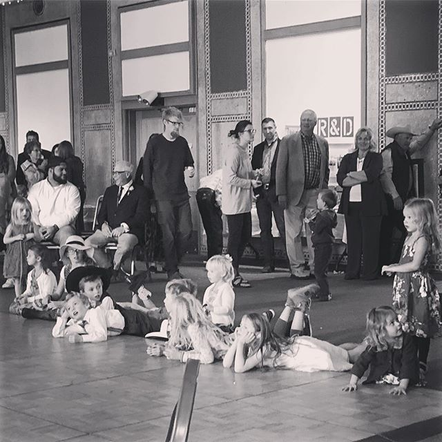 The kids are patiently waiting their turn to dance after the bride!  #joesmobiledj #montana #dj #weddings #brideandgroomdance #mclaughter #est2018💍 #livingstondepot #dancefloor #blackandwhite