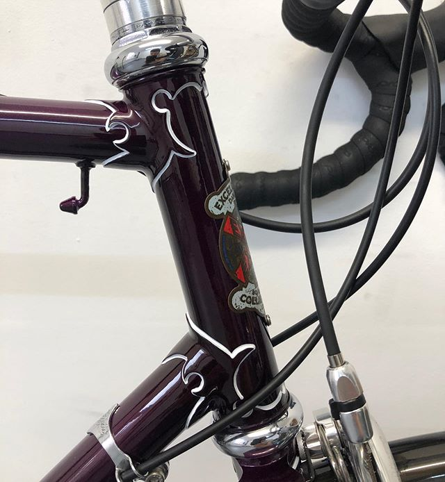 Cracking little Reno we finished this week on this excel cycle co frameset.  #woodrupcycles #excelcyclesco #bikereno #steelisreal #recycle #classicbike #steelbike