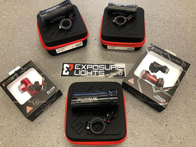 Exposure lights now in stock!  We've just taken delivery of a wide range of Exposure lights from the 5000lm 6pack mk10, down to a great range of well priced commuter lights. With price match available why buy online!  #exposurelights #woodrupcycles #nightriding #lbs #localbikeshop