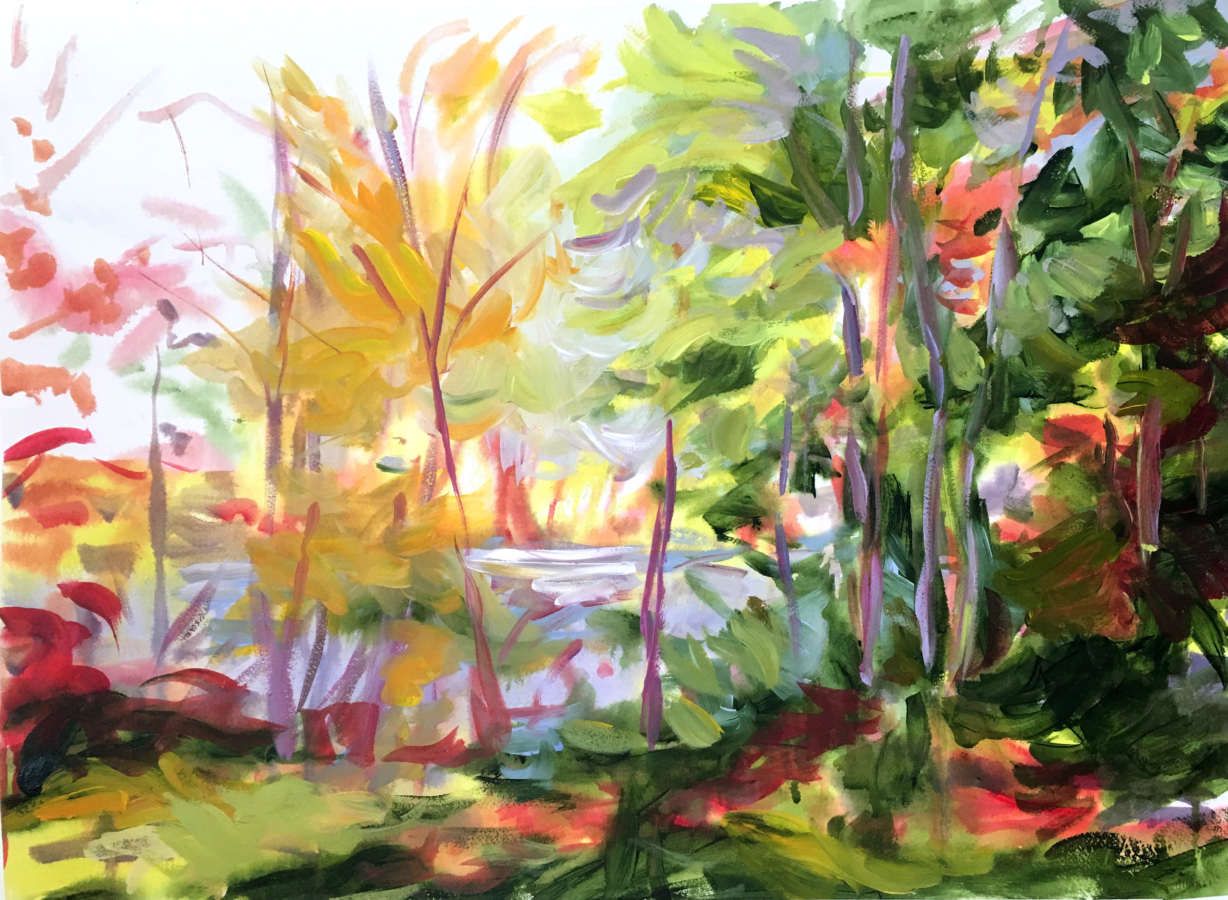 Eastern Townships #1 30x36 on paper