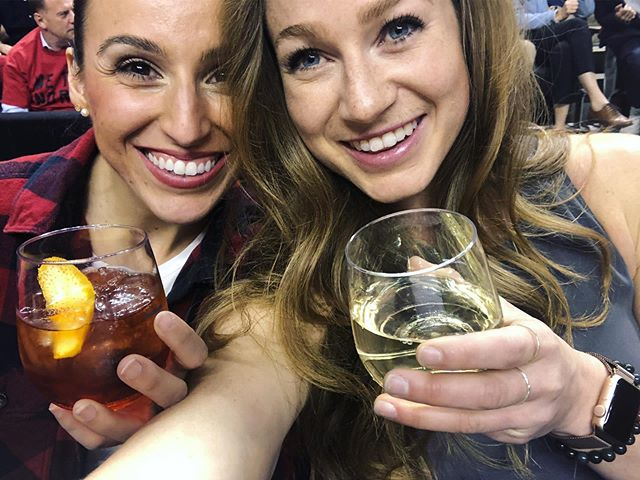 I'm not saying it was because of me, but also, the two playoff games I've been to have been epic wins. So... I'm also not going to say it wasn't because of me... . . 🏀💁🏼‍♀️🙋🏼‍♀️ #wethenorth