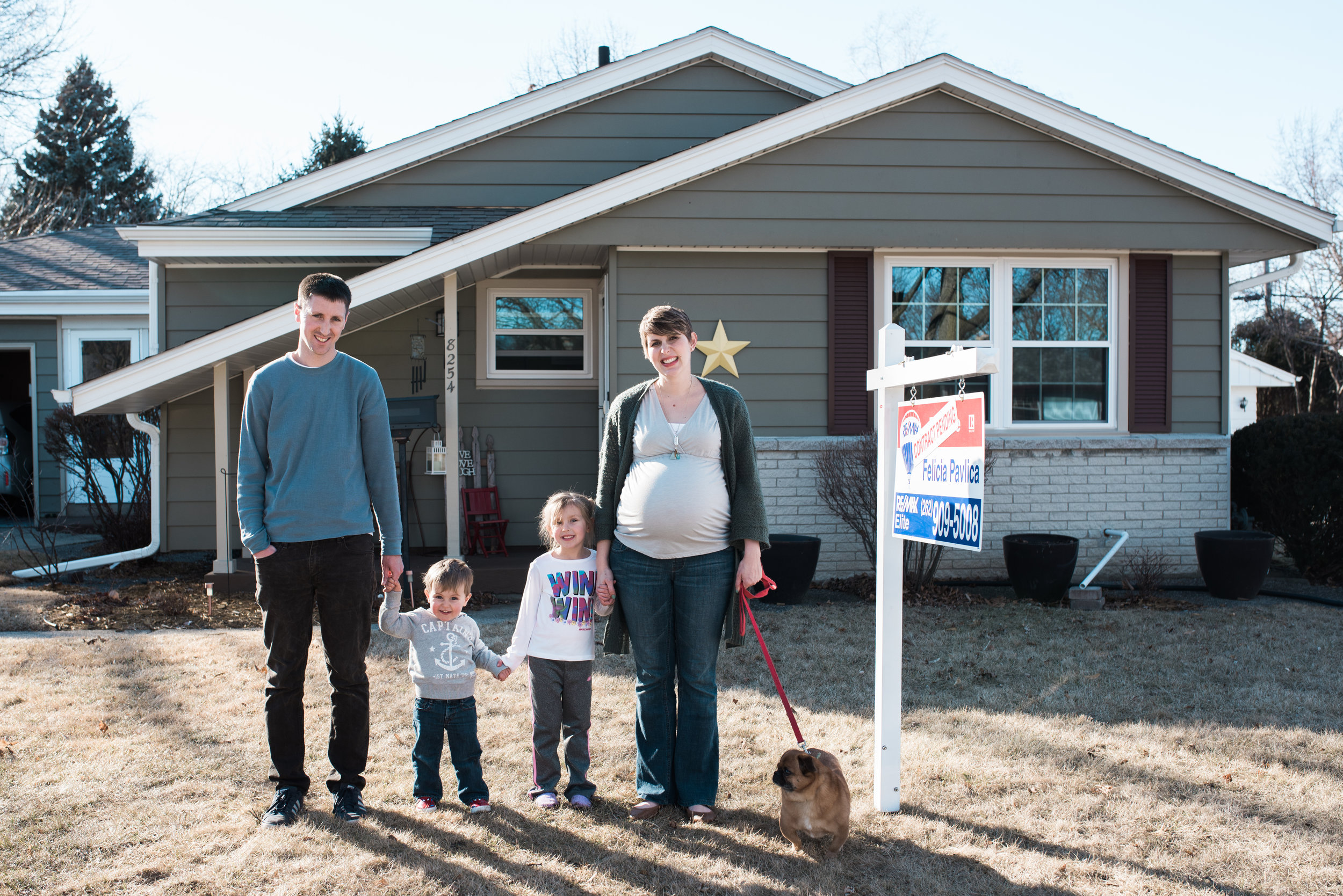 In front of their first home. :) #proudfamily #bravemama
