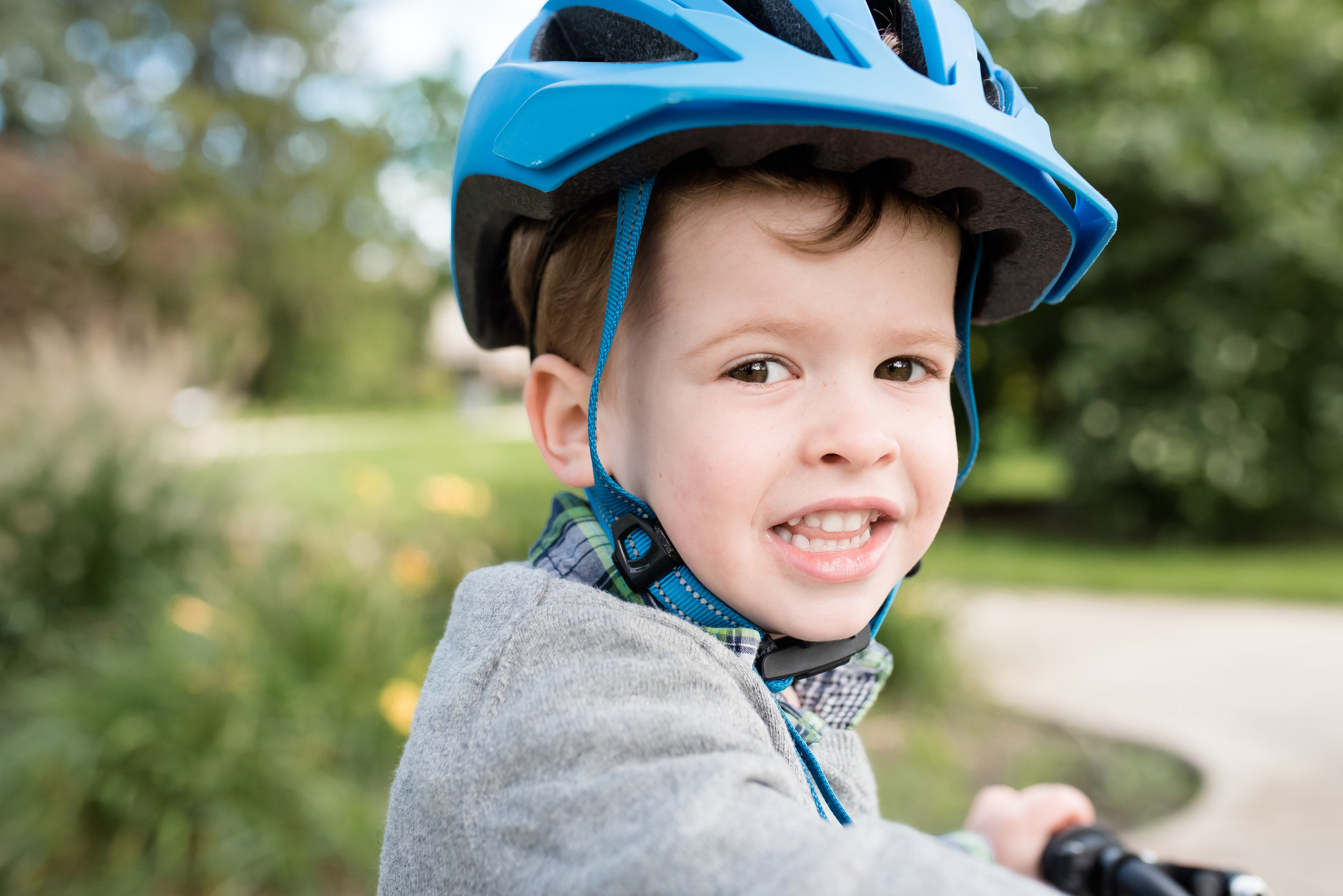 This big kid learned how to ride a bike this year. And he does it REALLY well - no training wheels or anything!