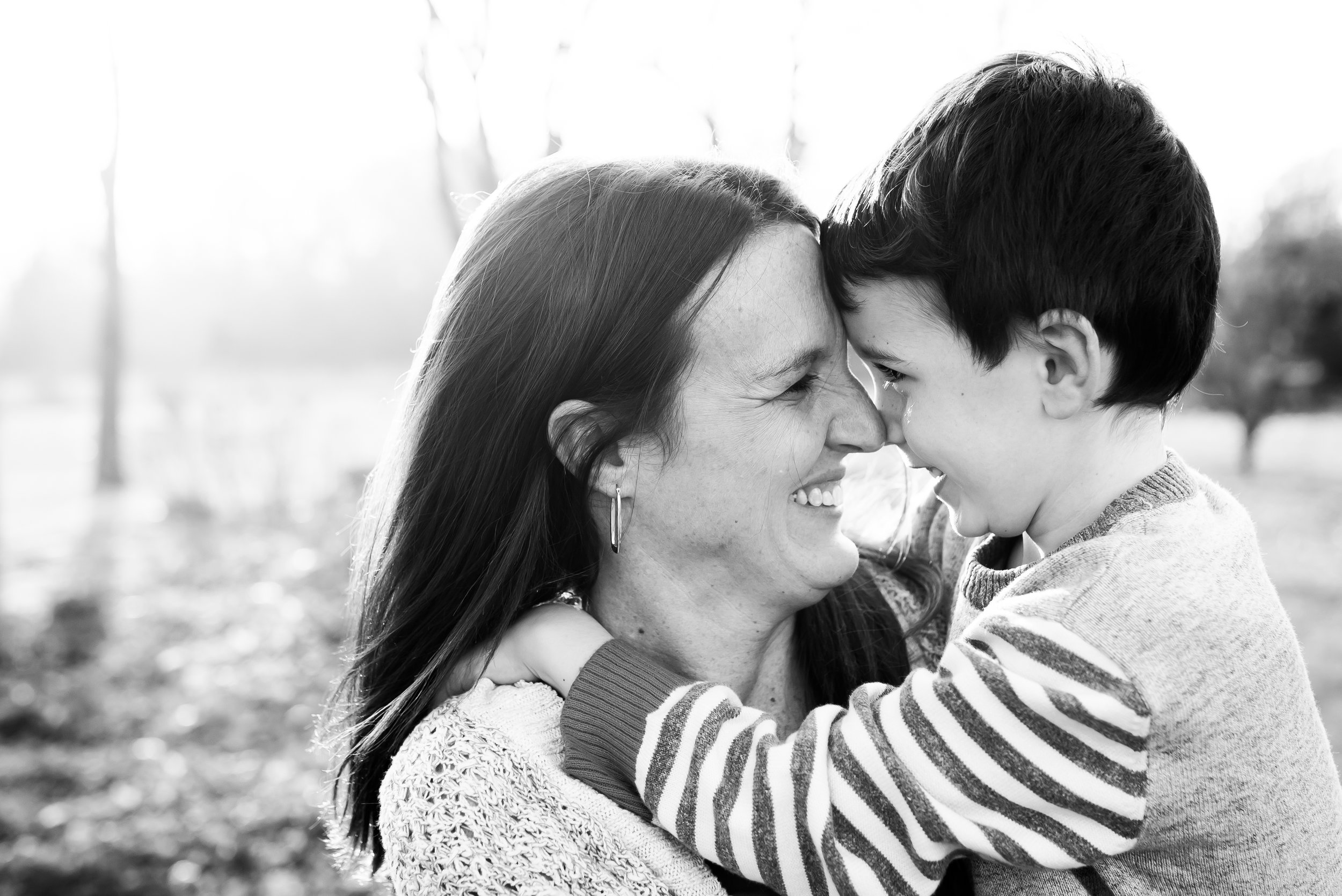 This kiddo wanted to get a picture with mom first. :) He's definitely a mama's boy!