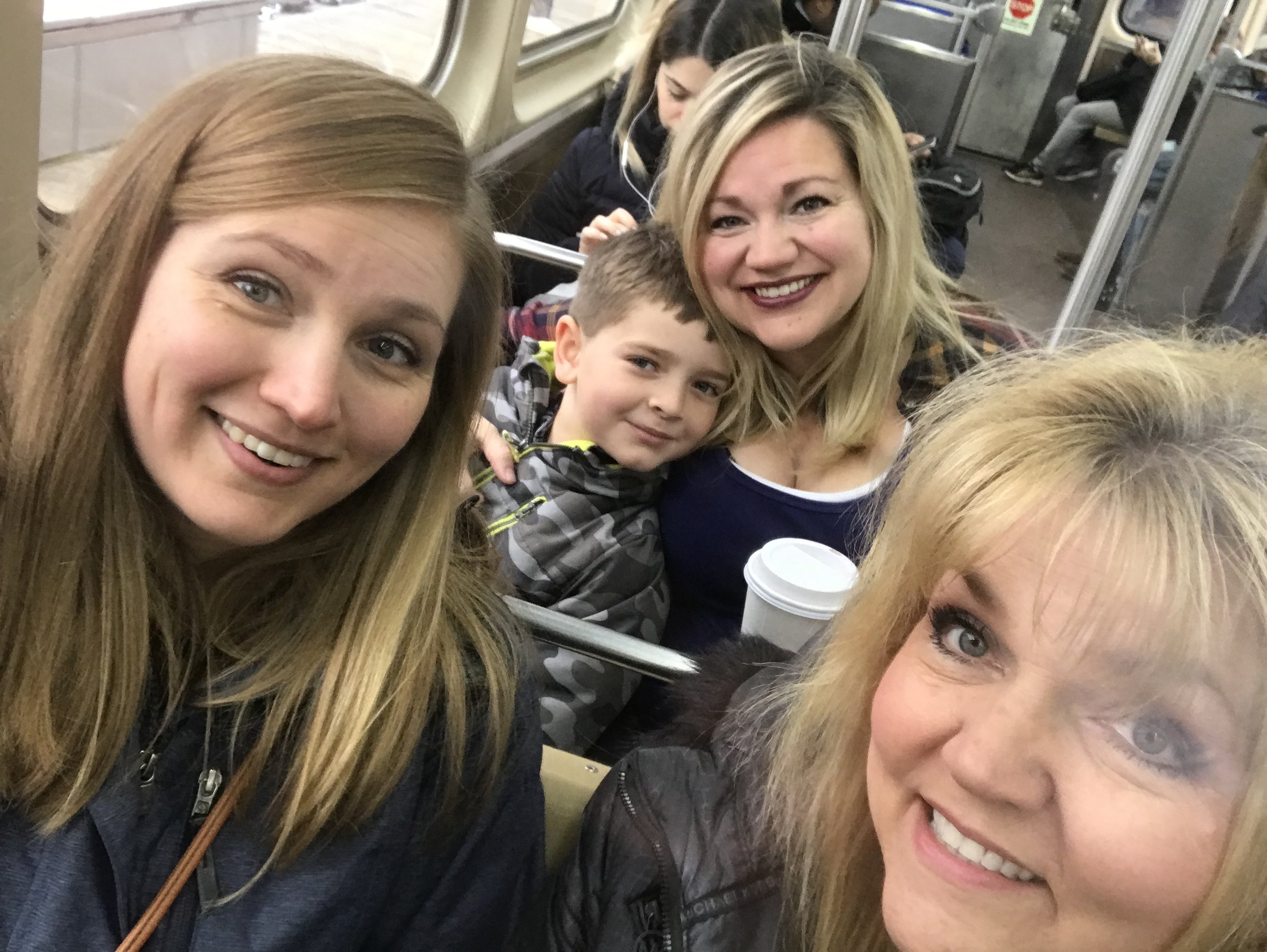 All of us on the train on my iPhone. Carl rarely smiles for photos, so this was pretty good! I'm sure there are lots of photo takers with kiddos who can agree - ha!