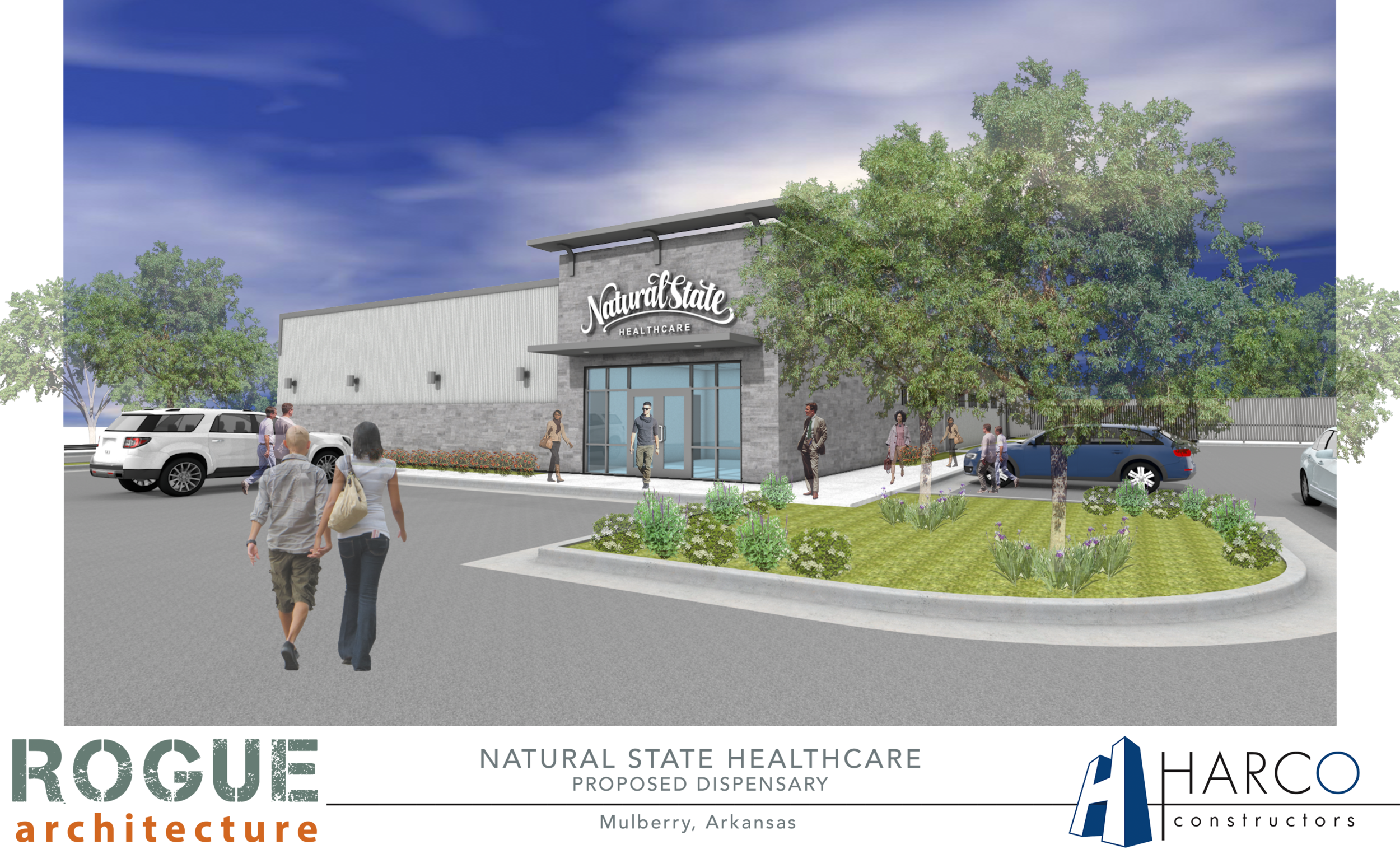 Natural State Healthcare - Proposed new medical cannabis dispensary facility near Fort Smith, Arkansas. Construction to begin mid 2018.