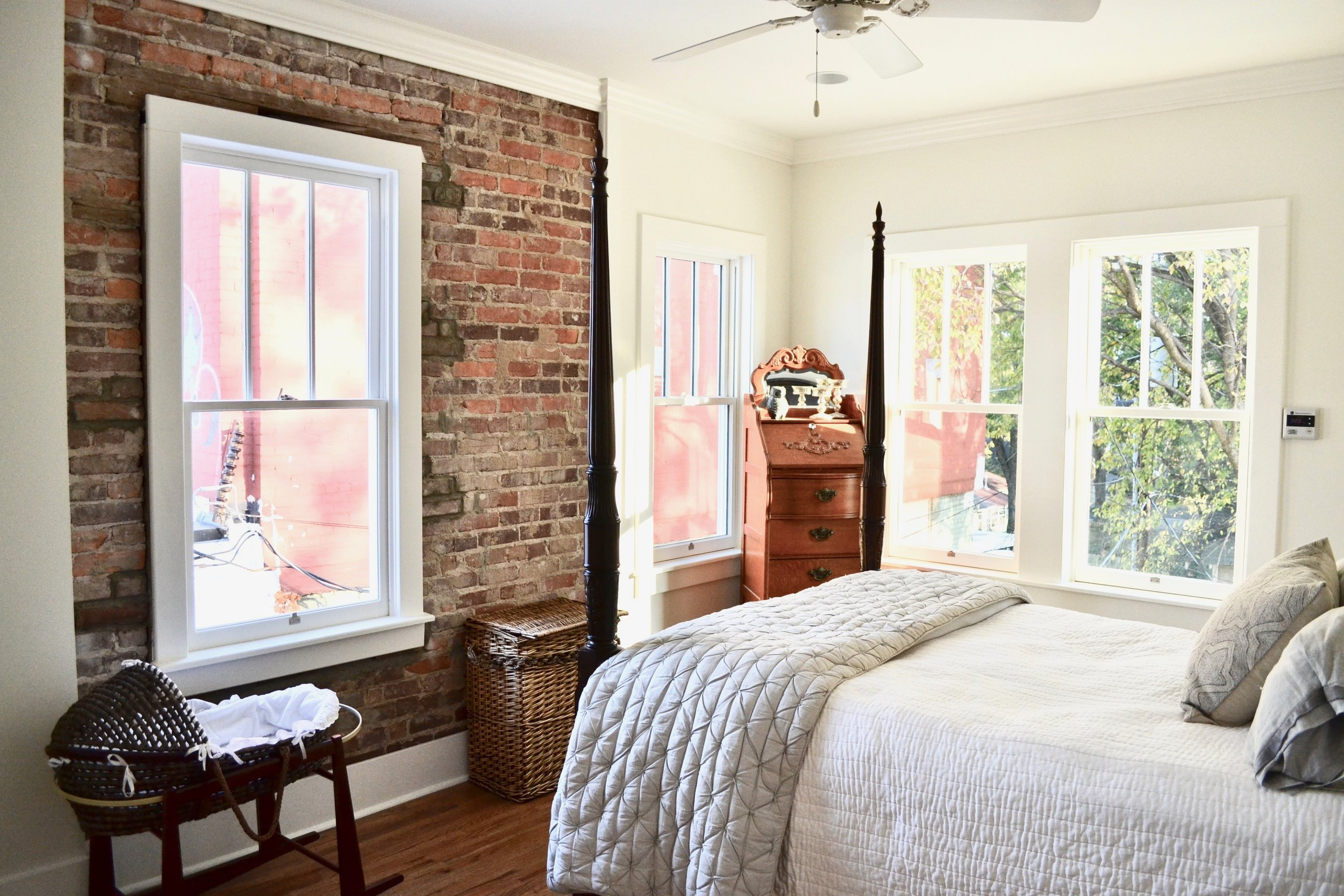 Historic Buice Pharmacy building in Stifft Station, Little Rock. Contemporary apartment renovation by Rogue Architecture.