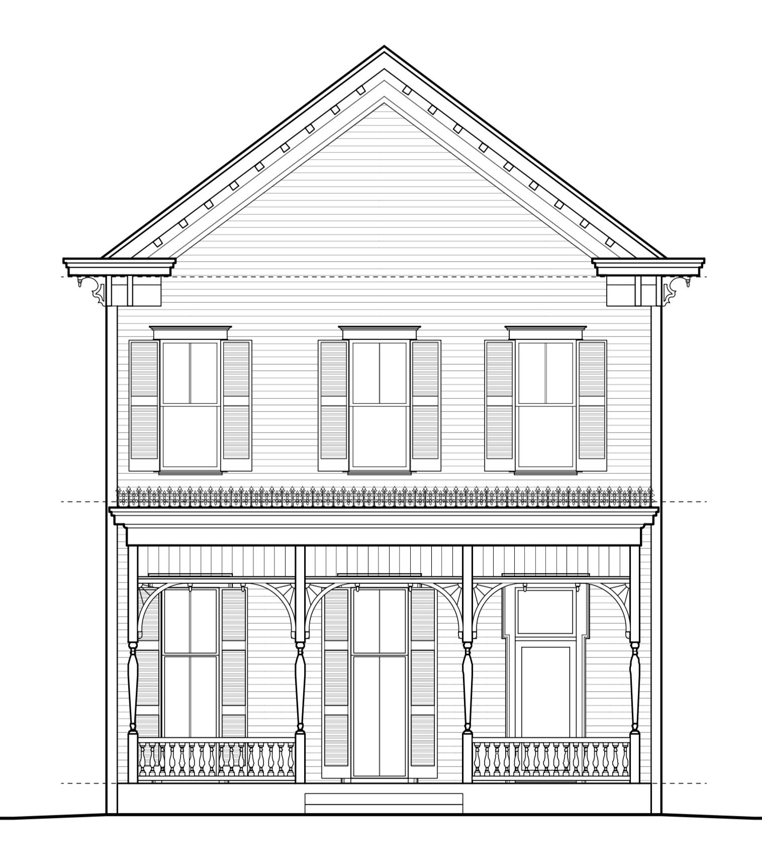 Pfeifer-Mandelbaum porch restoration designed by Rogue Architecture. 1872 Victorian residence, downtown Little Rock.