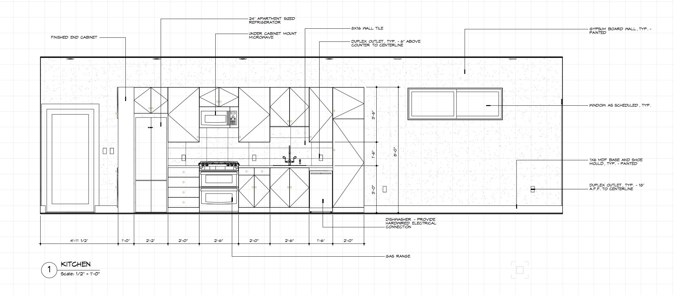Typical Interior Kitchen elevation.