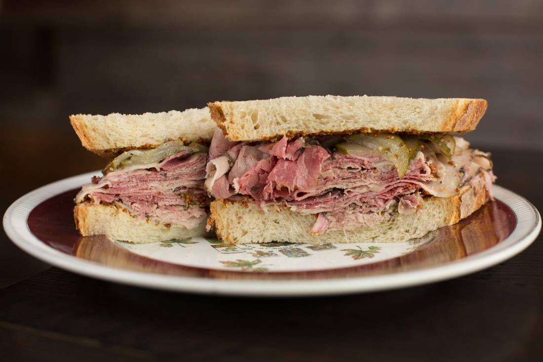The Beaumont Smoked Meat Sandwich.   AMBER BRACKEN/FOR THE GLOBE AND MAIL
