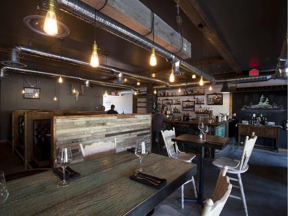 An interior view of Chartier, a new restaurant in Beaumont.     GREG SOUTHAM / EDMONTON JOURNAL