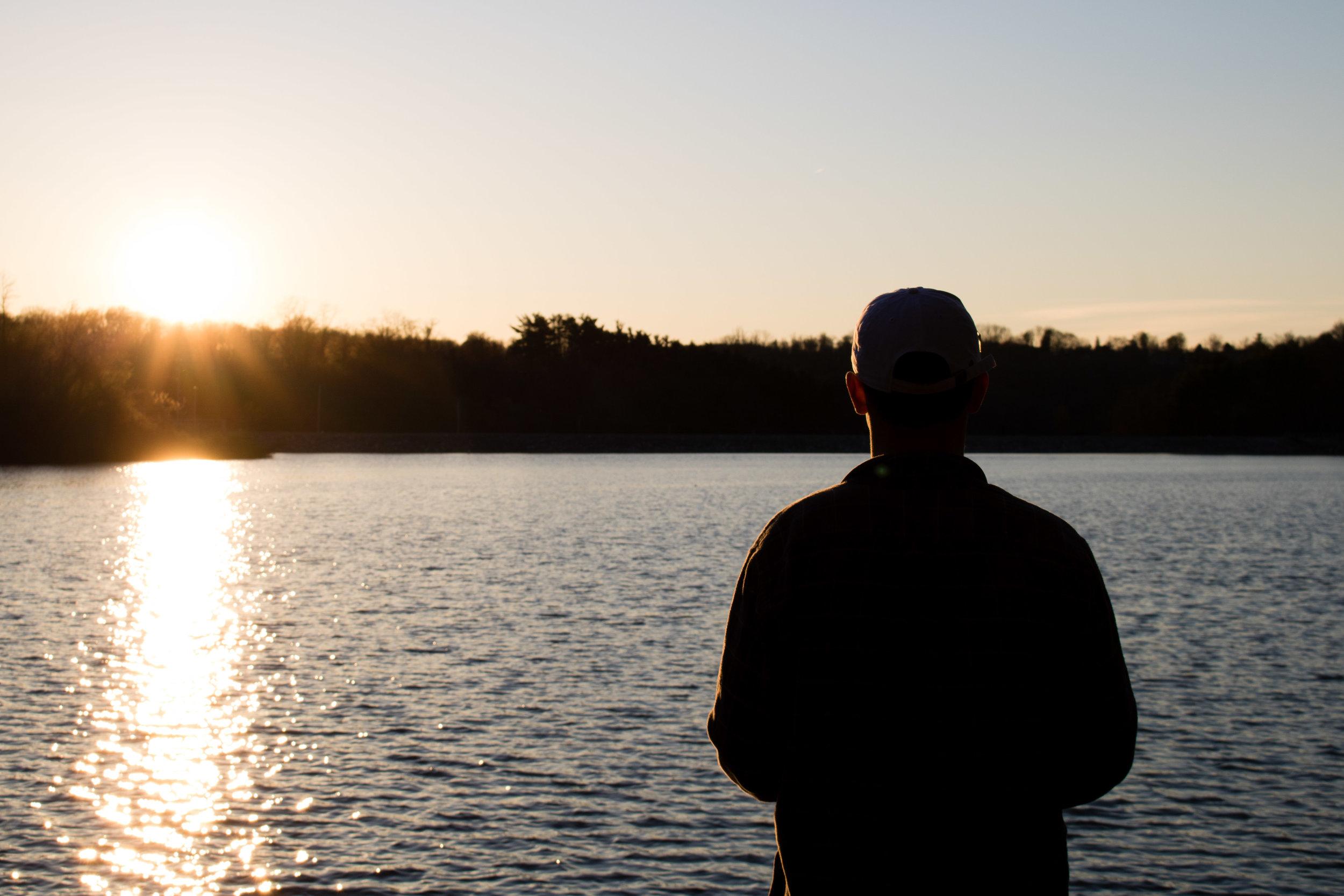 Silhouette-Sunset-Lake-Redman-Jacobus-Pennsylvannia-Photography