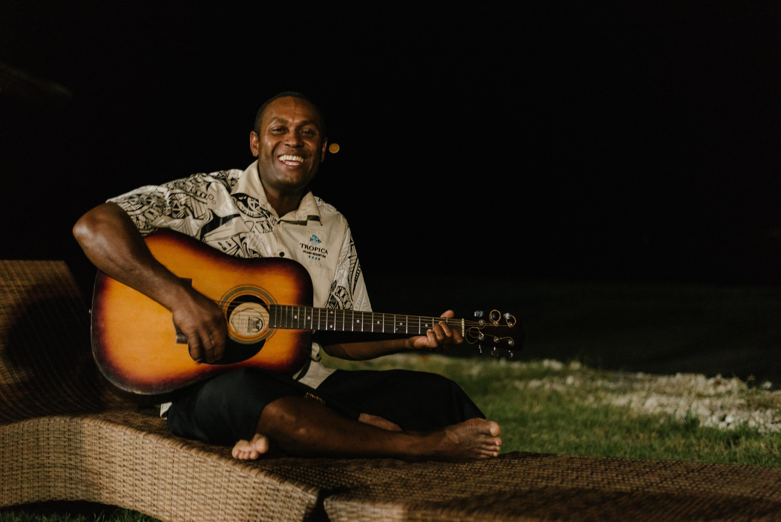 The amazing Sonny from  Tropica Island Resort