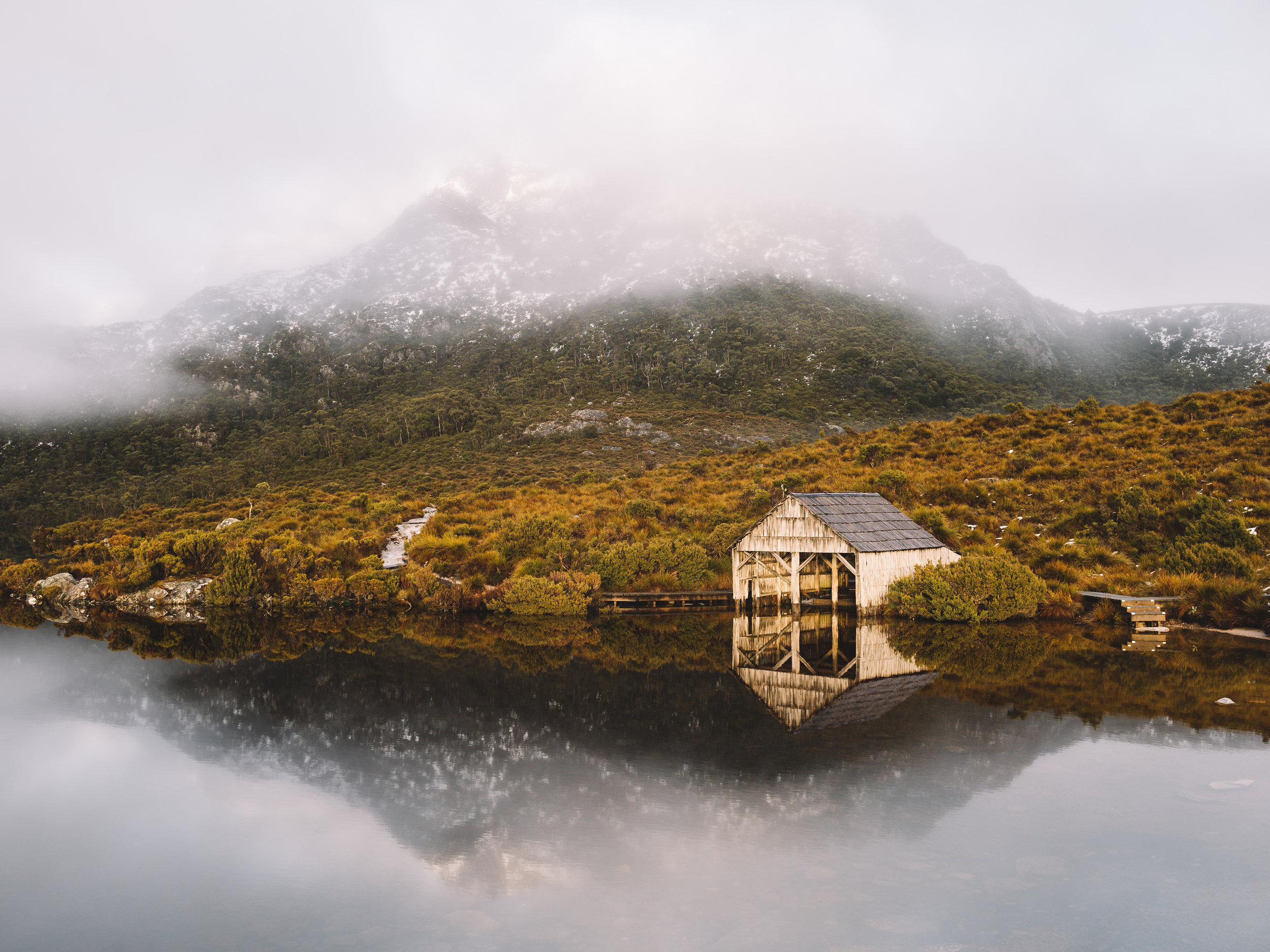 The Boat Shed on Dove Lake, Cradle Mountain-Lake St Clair National Park, Tasmania