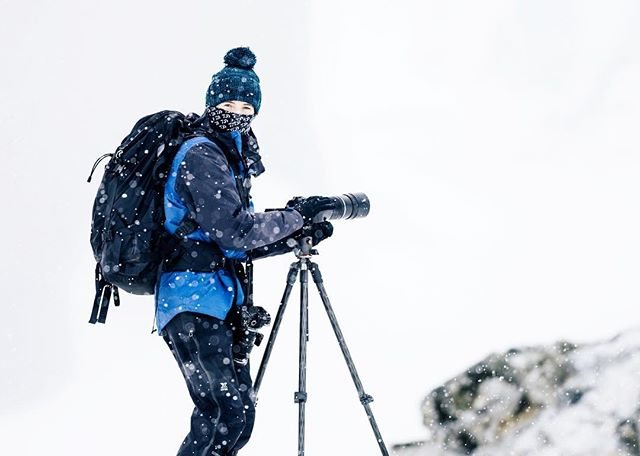 A very rare shot of me filming in the field but hey…Antartica right? ❄️ Aside from the fact that the amount of snow falling on me within a few minutes was more than I'd ever seen in my entire life, it snowed more on this day than any other day on the expedition but not only that but it was our first landing on the Antarctic continent AND we were met with our first colony of penguins too (and if you saw the ridiculous penguin collection I keep beside my desk right now you can only imagine how hard it was to not cry and let alone focus). I mean…the snow, the baby Gentoo penguins, the penguin HIGHWAYS (what 😳), snow capped mountains, floating icebergs….eh, it was 360 degrees of pure beauty to take in and film. Here I was filming on the OM-D EM-1 Mark ll with the incredibly sharp 300mm f/4.0 M.Zuiko PRO lens. Swipe right to see a screen grab of the magic it was filming… ✧ Rare-but-flattering-because-covered-head-to-toe-image-of-me taken by @laurenepbath 🙈  @olympus_au #olympusinspired  #Antarctica #AntarcticPeninsula #iceberg #olympus #omdem1markll #olympus300mmf4pro #EverythingAntarctica #polarpioneer #auroraexpeditions #NatGeoYourShot #BBCTravel