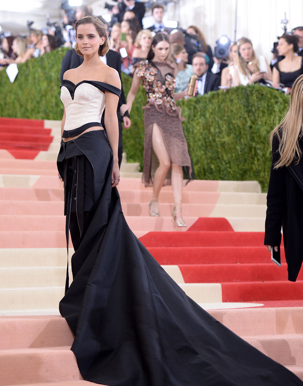Emma Watson at the MET Gala 2016 wearing a Calvin Klein dress made from recycled plastic bottles