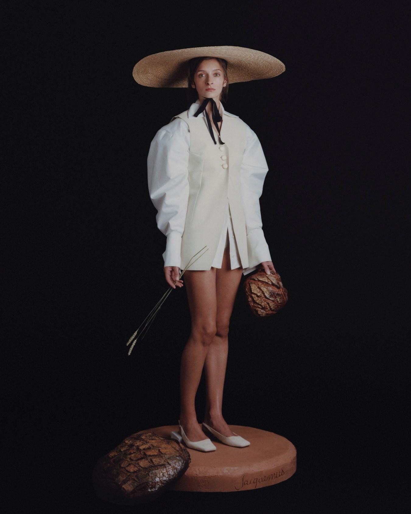 La Femme au Pain (The Woman with Bread) Photography David Luraschi, artistic direction Simon Porte Jacquemus