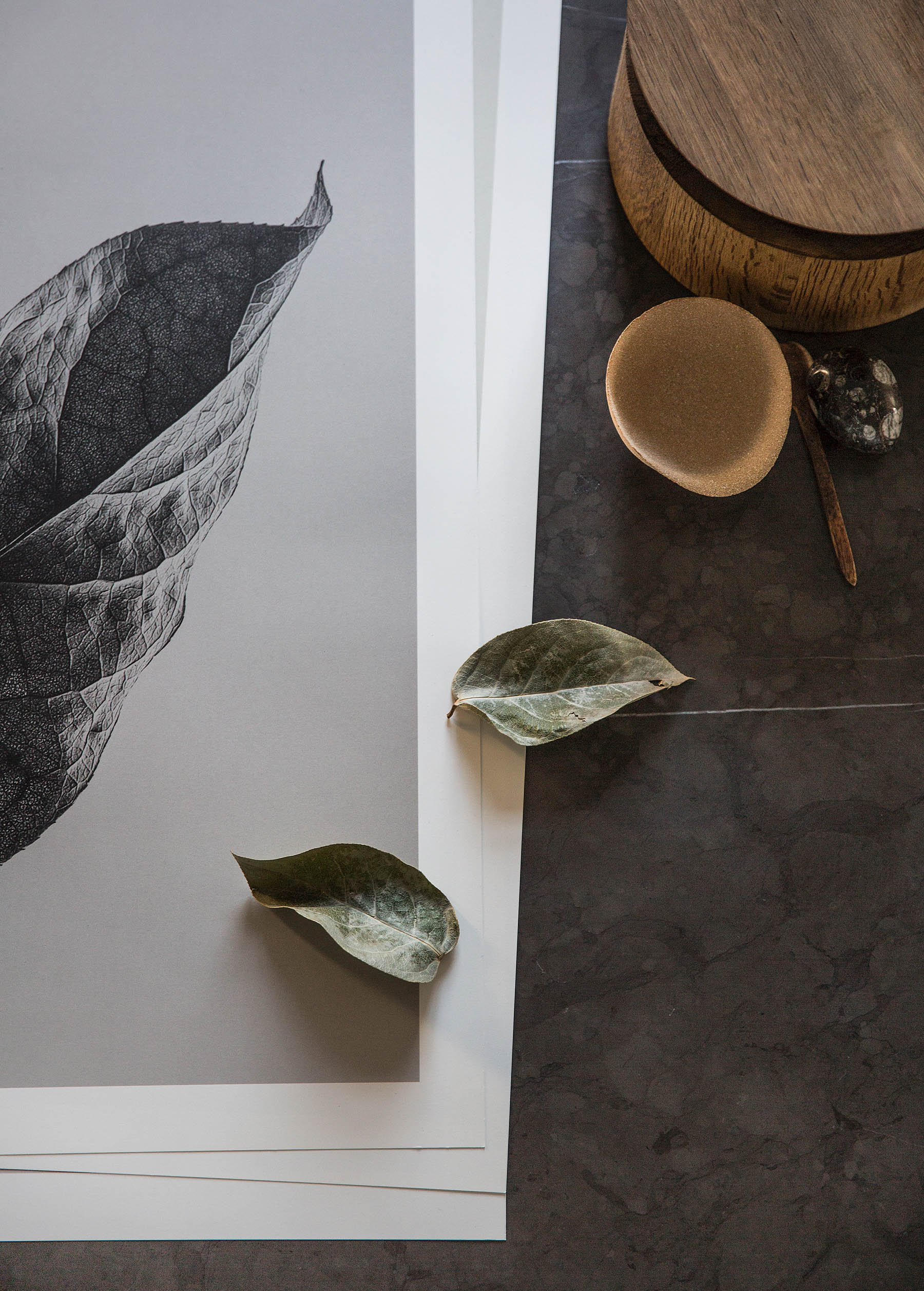 Sabi Leaves Print Series For Paper Collective by Norm Architectes