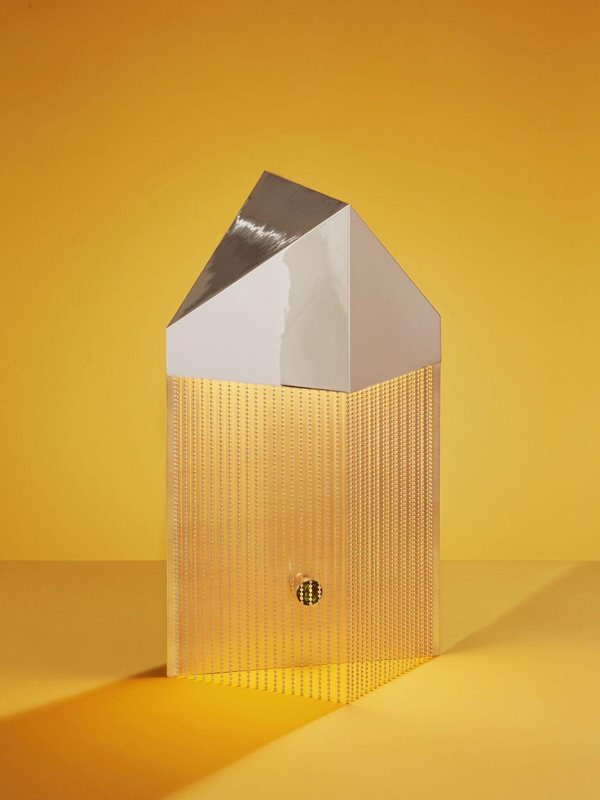 PELLE Design Studio - The  Silver Veil Table Lamp