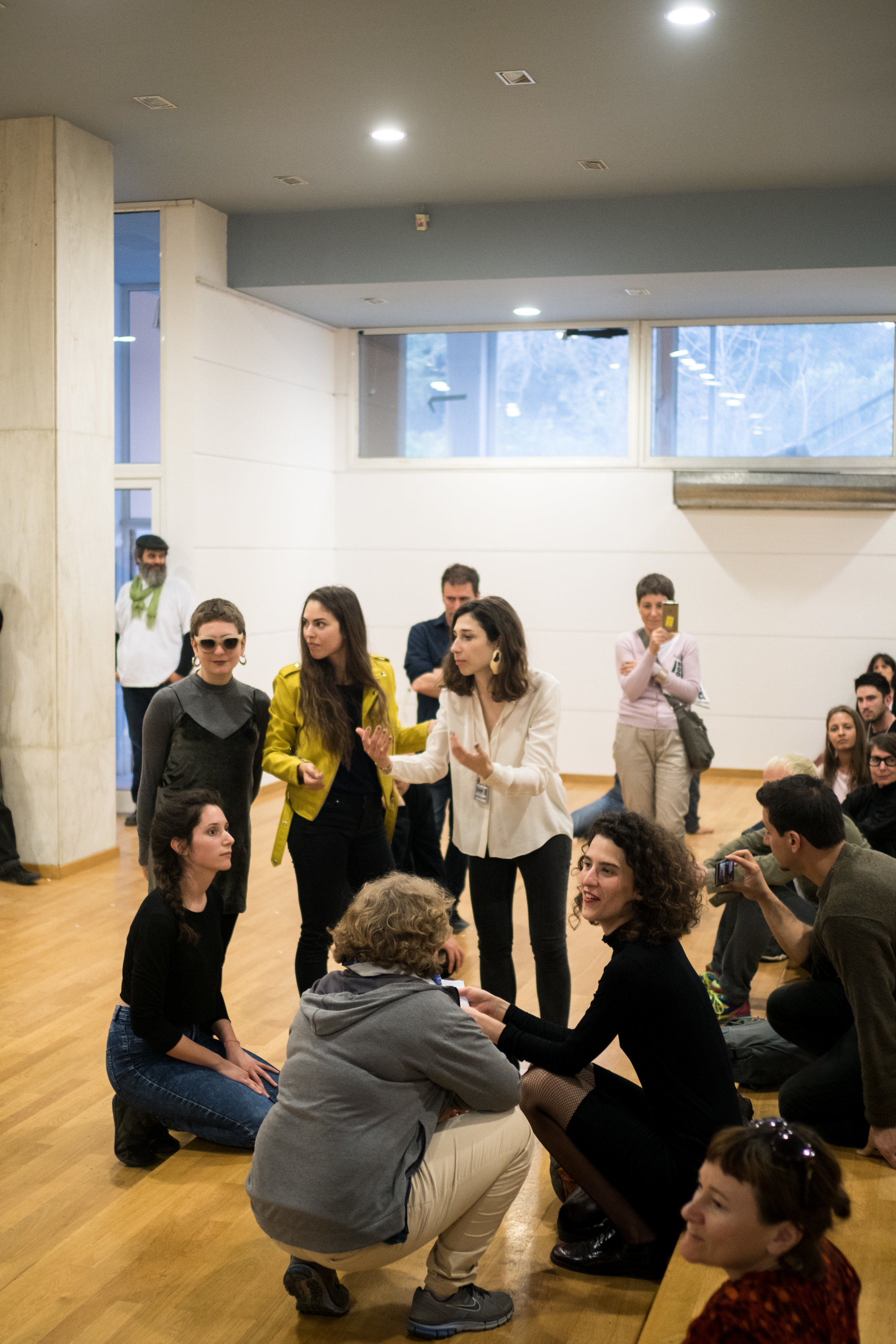 Mattin with Dafni Krazoudi, Danai Liodaki, Ioannis Sarris, and Eleni Zervou , Social Dissonance , 2017, durational concert, 163 days, documenta 14, Athens