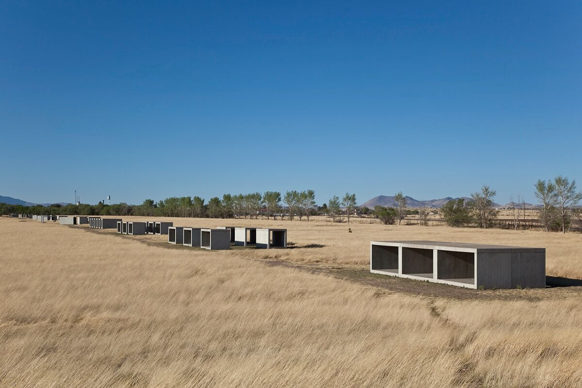 Donald Judd, 15 untitled works in concrete, 1980-1984. Permanent collection, the Chinati Foundation, Marfa, Texas. Photo by Douglas Tuck, courtesy of the Chinati Foundation. Donald Judd Art © 2017 Judd Foundation / Artists' Rights Society (ARS), New York.