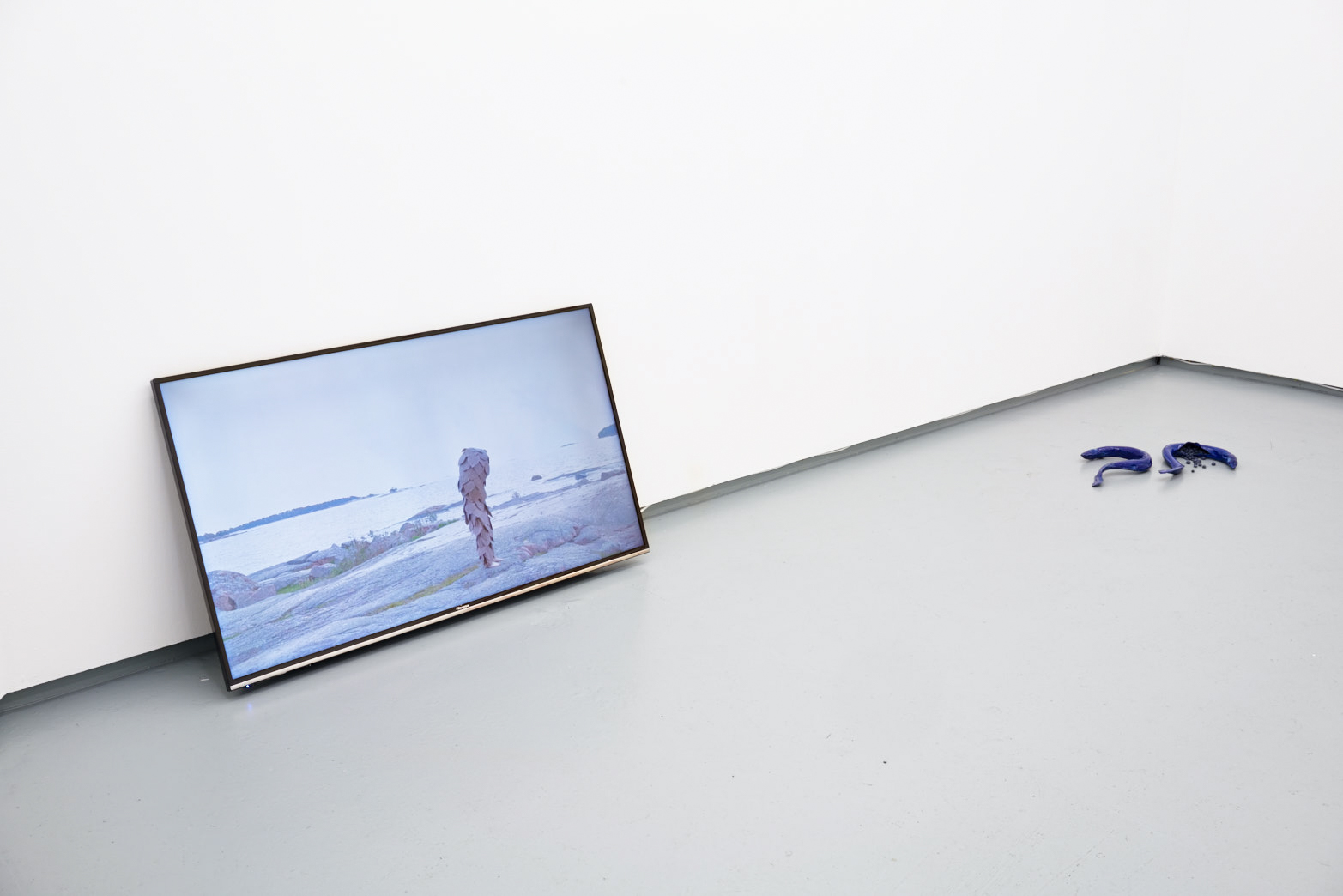 Ingela Ihrman,  When the inland ice pulled back from Sweden, the fir migrated from the north,  2015 (left); Paloma Proudfoot,  The Anthropophagous Stage,  2018.