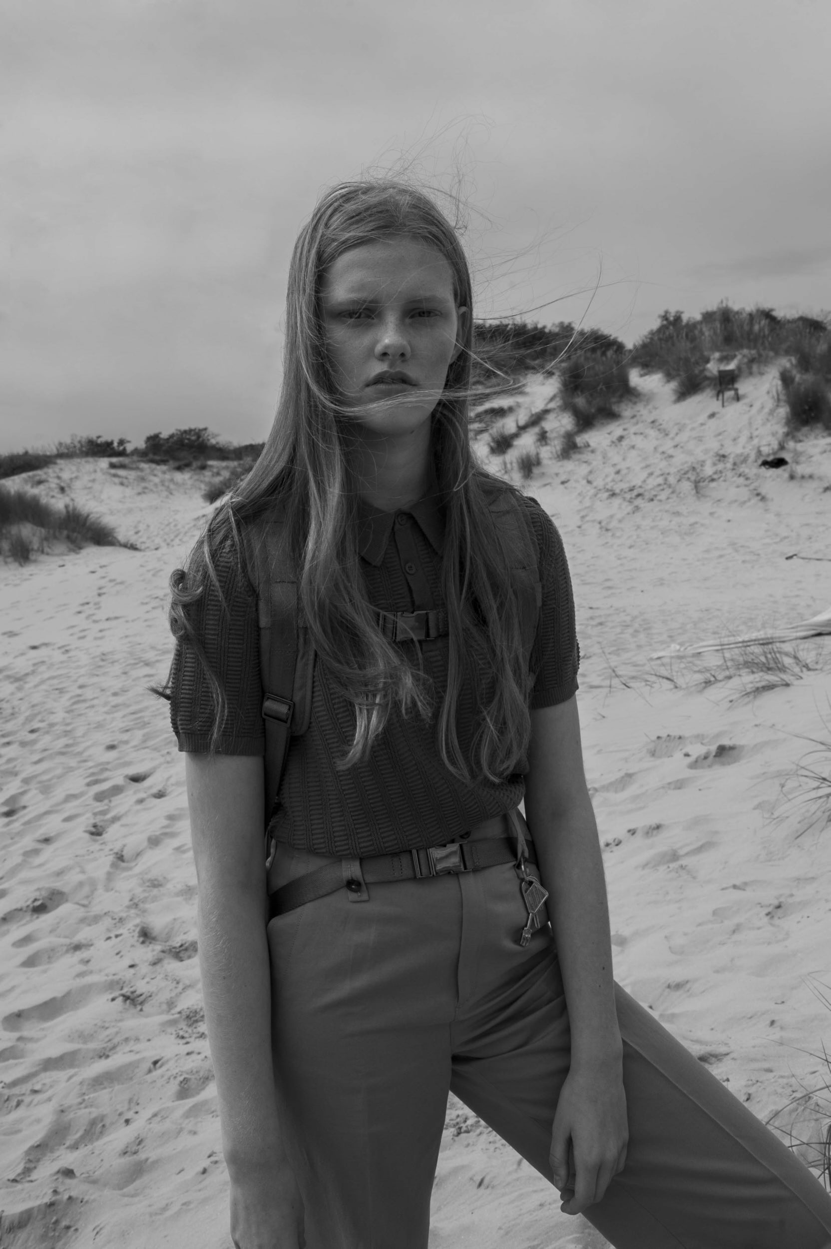 Sweater - Lacoste, Pants - Isabelle Marant, Backpack - Zara