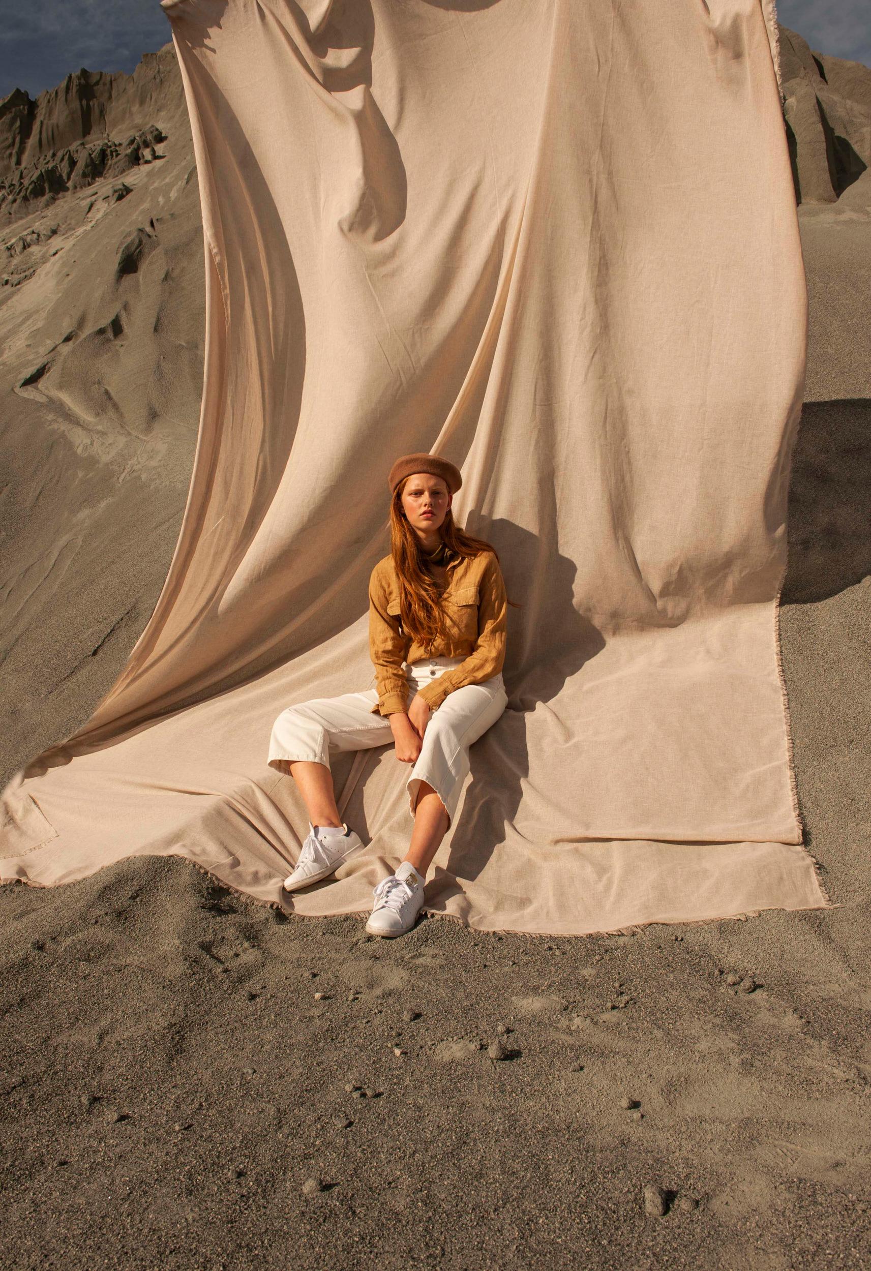 Shirt - Isabelle Marant, Pants - Levi's, Shoes - Adidas, Béret - Le Béret Français