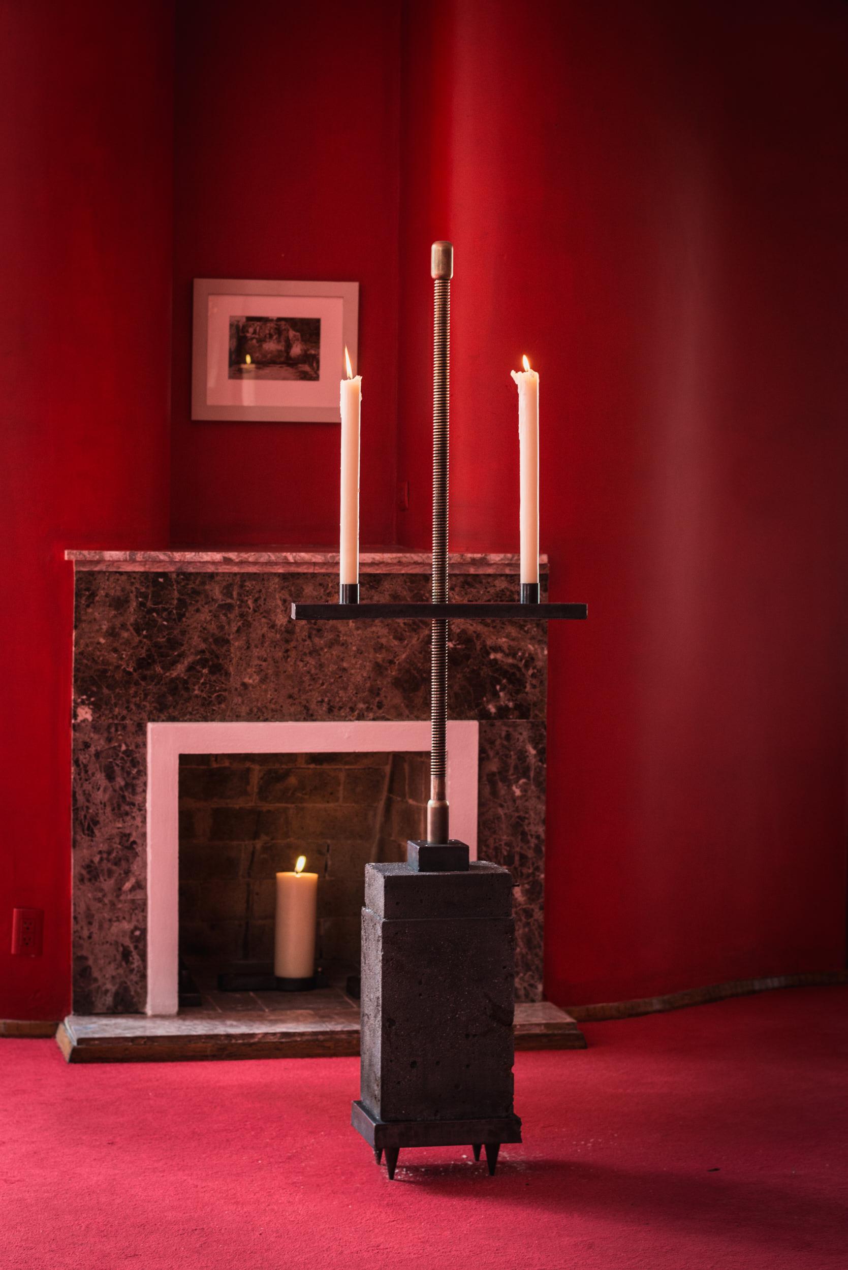 Tezontle Studio Candlelabra