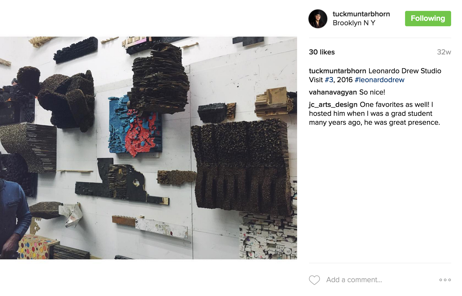 Leonardo Drew Studio Visit #3, 2016.jpg