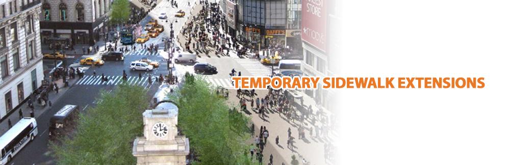 Temporary Sidewalk Extensions