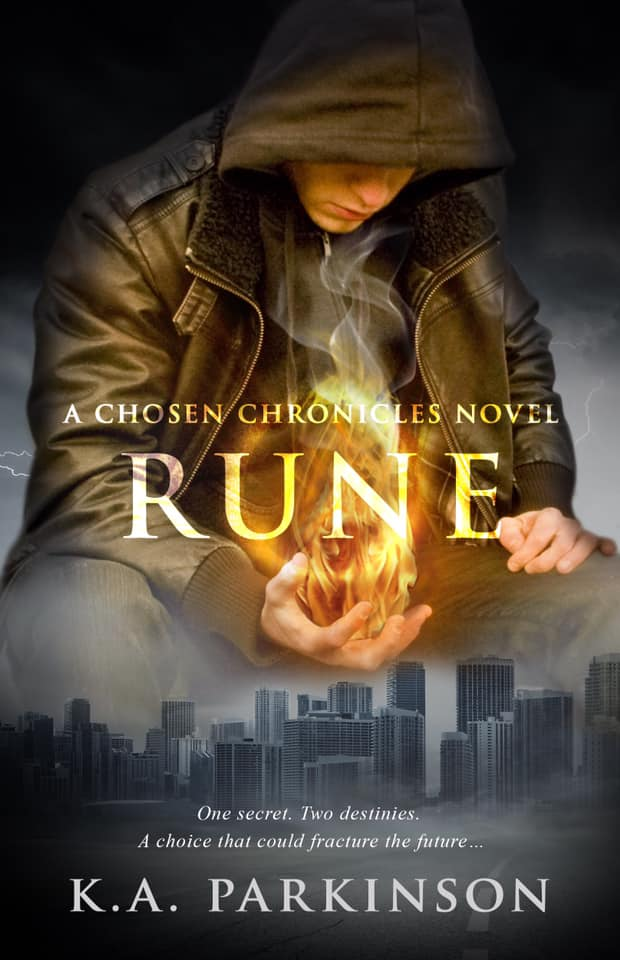 RUNE   K.A. Parkinson      For seven years Rune has lived among a group Lost Ones, content fighting the Dark in his own way, the past left in the past.  But his ruthless Watcher has found him once again and the choice she offers him leaves only two options: fight against the most dangerous woman in the world, or risk losing the only people he's ever truly loved.