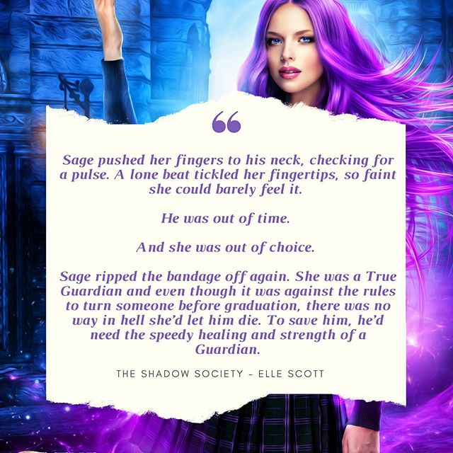 To celebrate the cover reveal, here's a little snippet... 💜🦉🎆 #authorsofinstagram #bookquote #yabooks #shadowguardiansacademy