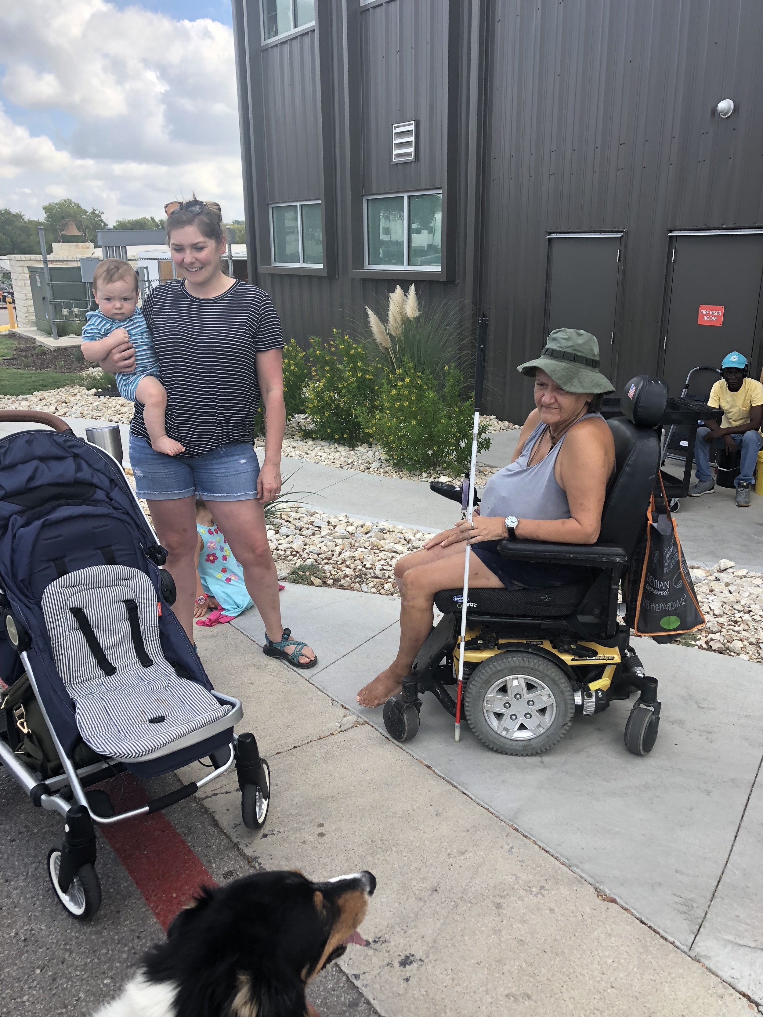 Visiting friends at Community First! Village in Austin