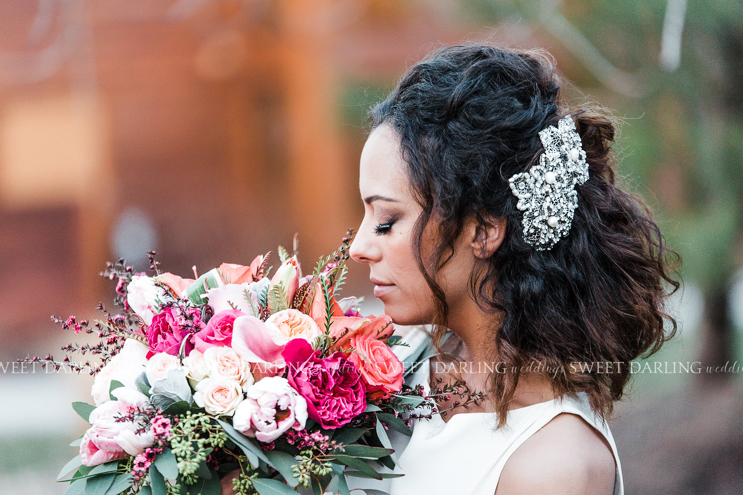 Bridal Bouquet and headpiece