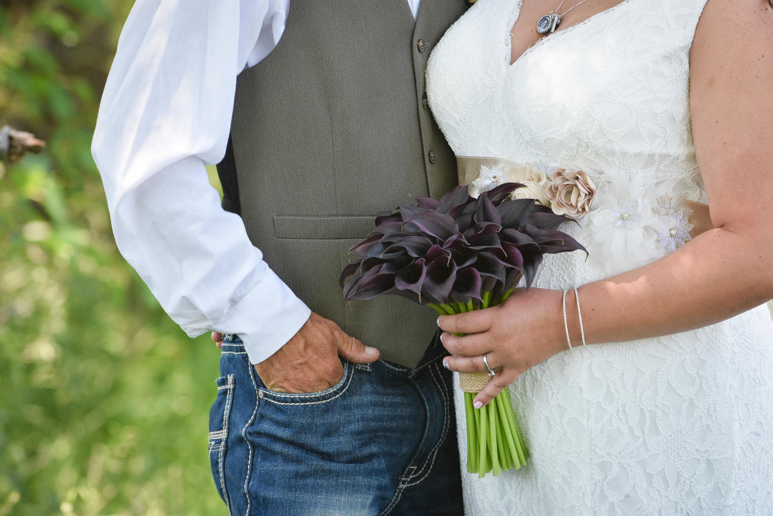 Purple Calla Lily Bridal Bouquet Knoxville Illinois Wedding