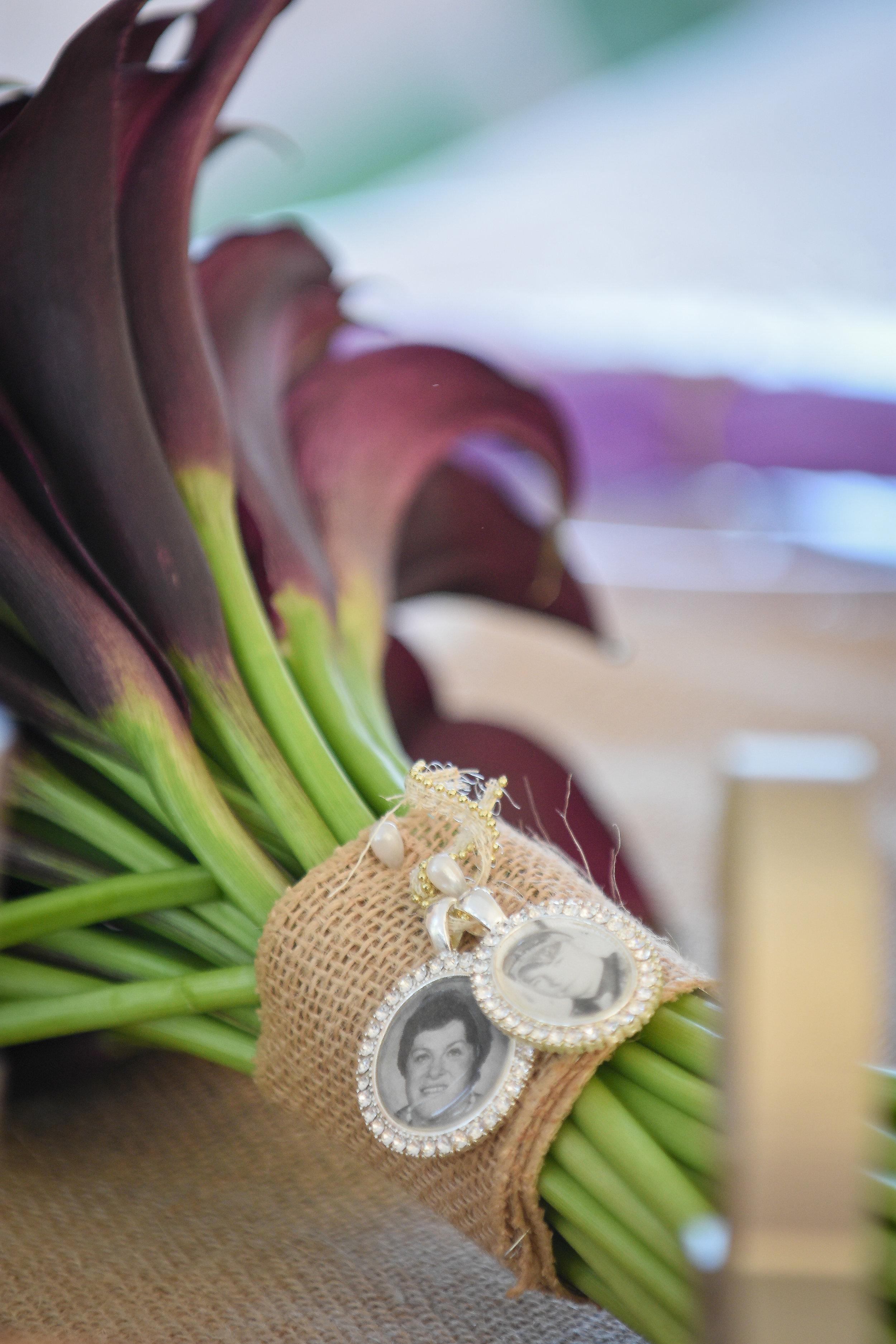 Calla Lily Bridal Bouquet Memory Lockets